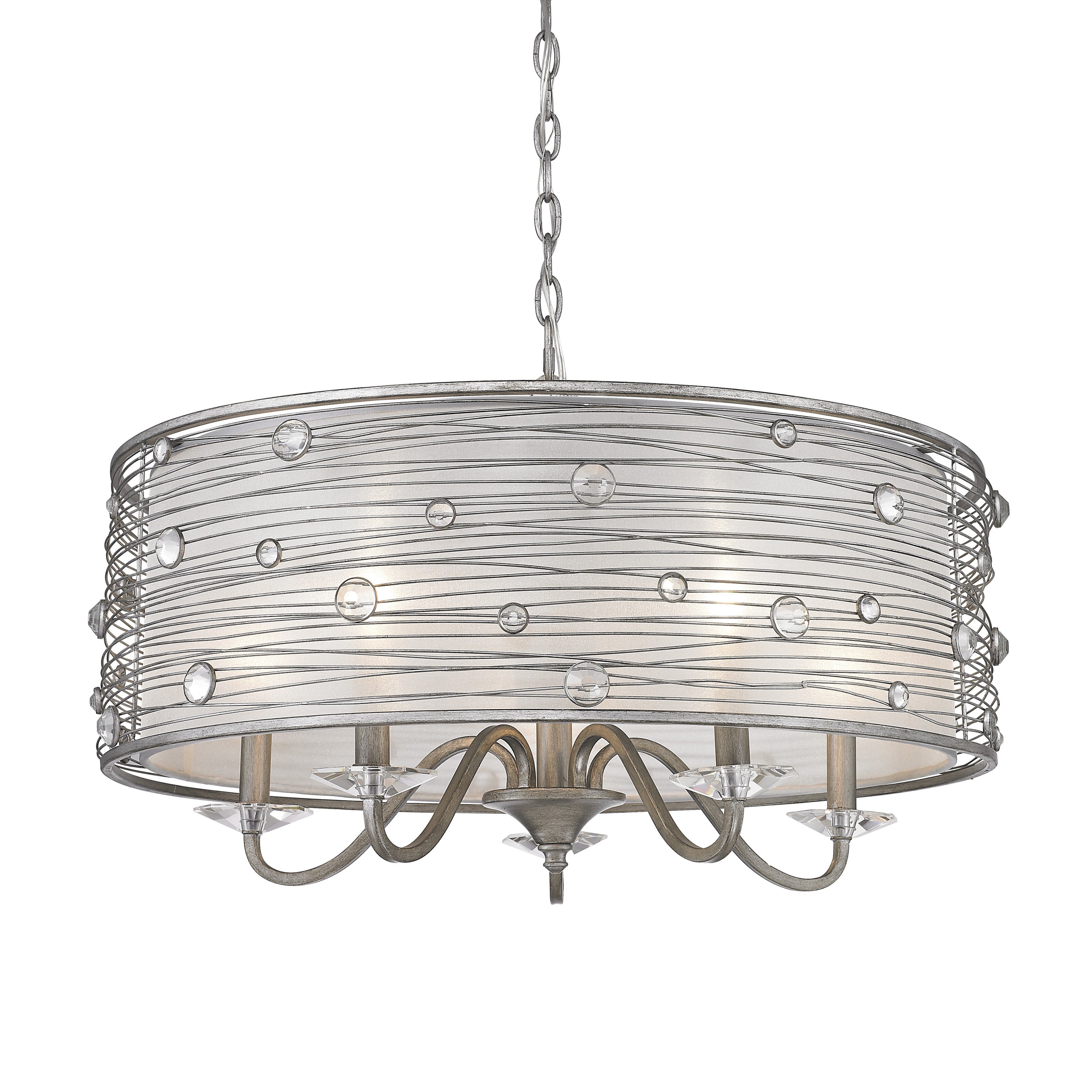 Golden lighting joia 5 light drum chandelier reviews for Dining room 5 light chandelier