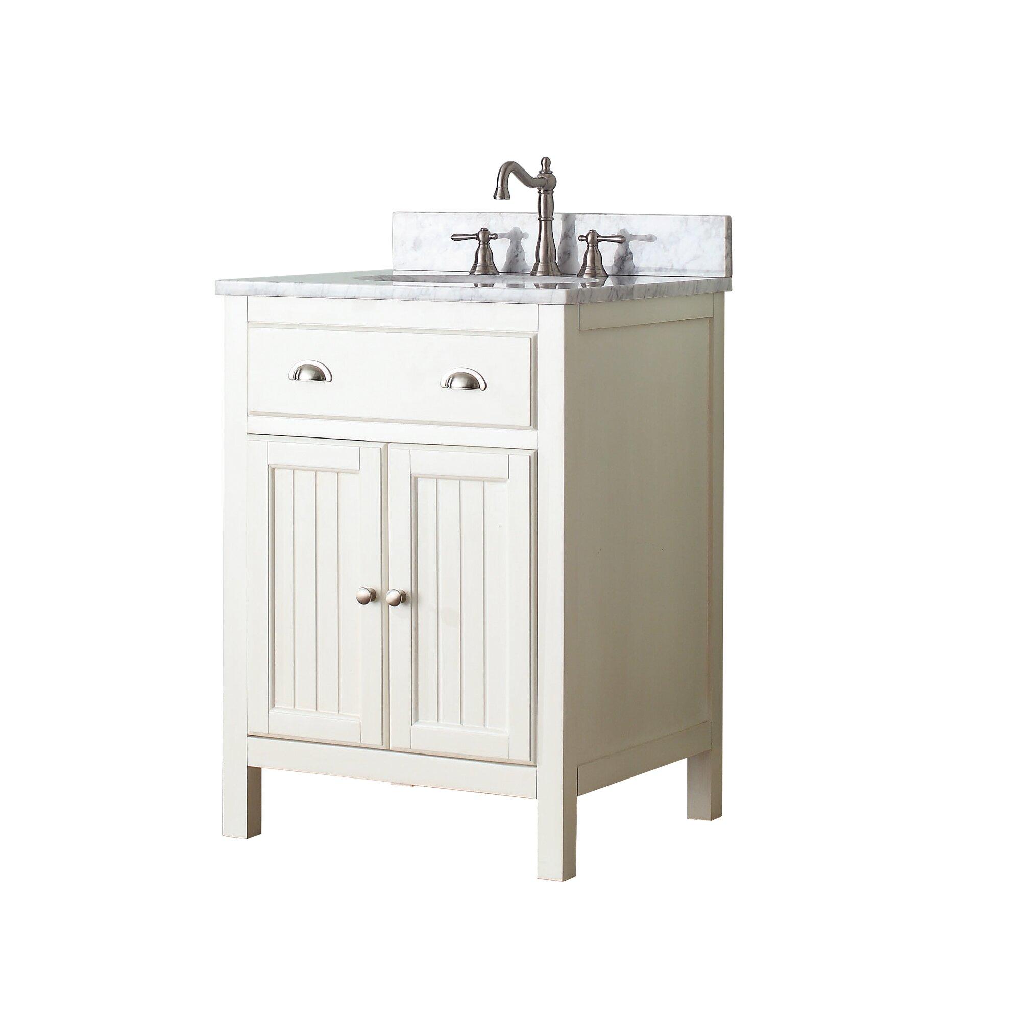 Avanity hamilton 25 single bathroom vanity set reviews wayfair for Bathroom vanities hamilton