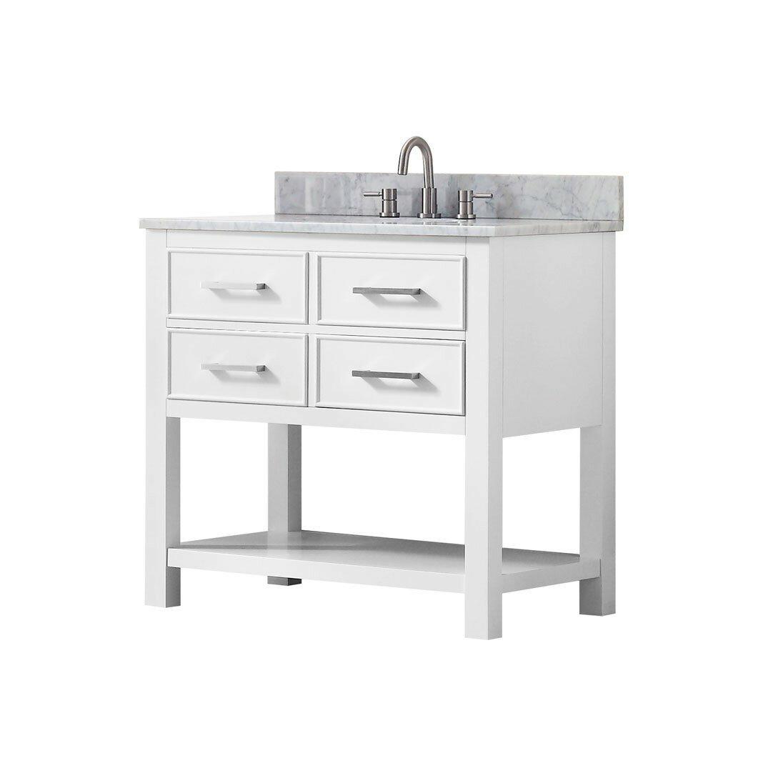 Avanity brooks 36 double bathroom vanity base reviews for Avanity bathroom vanities