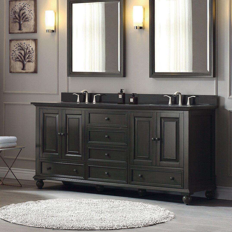 "Avanity Thompson 73"" Double Modern Bathroom Vanity Set"