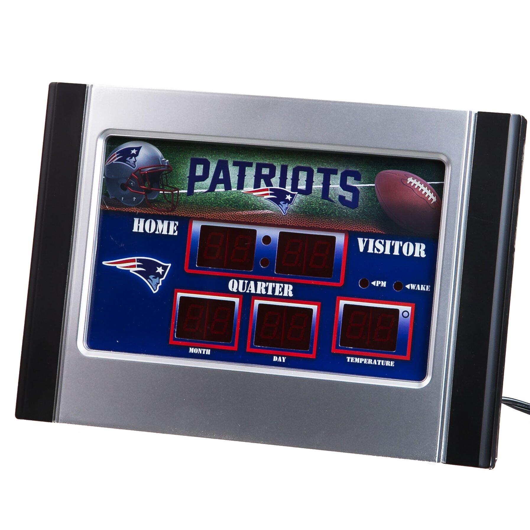Team Sports America Nfl Scoreboard Desk Clock Amp Reviews