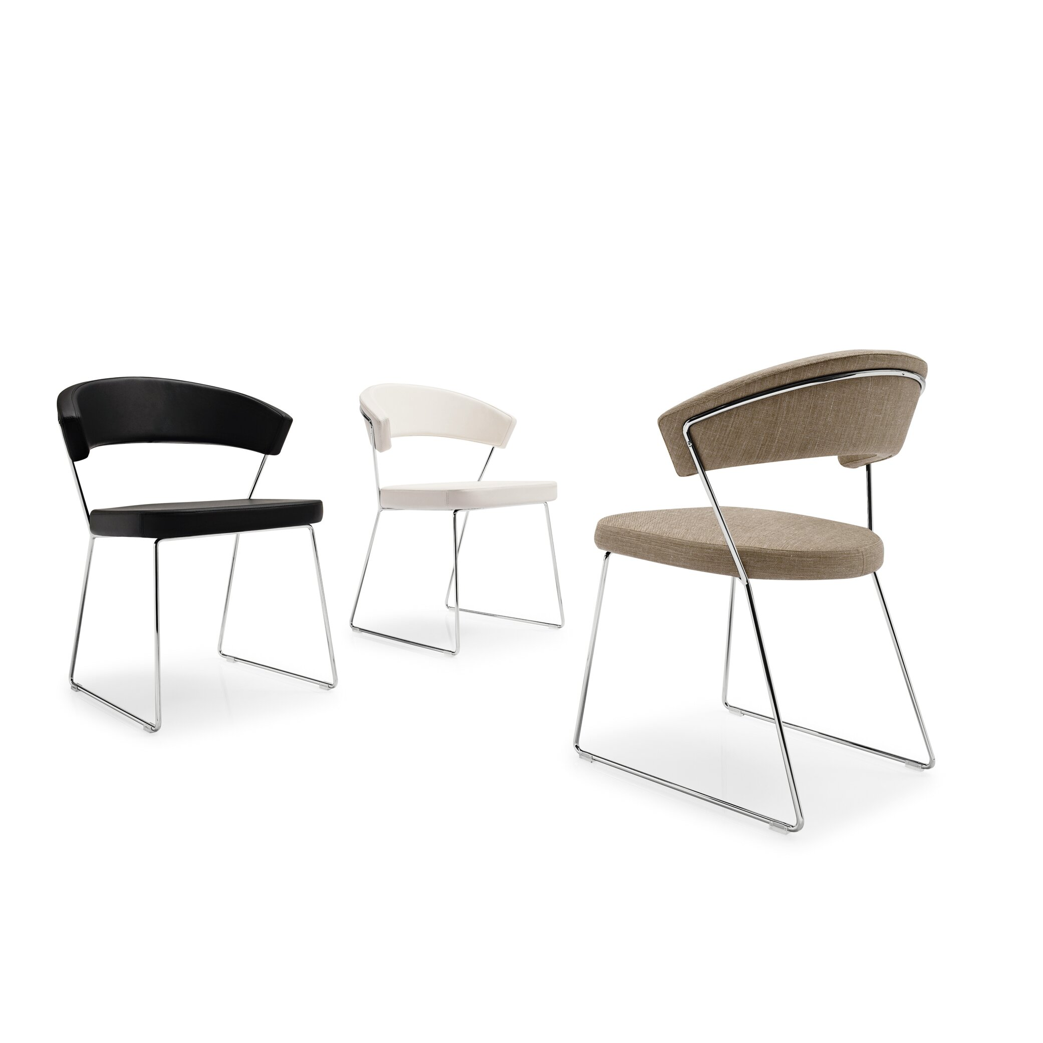 Calligaris new york sled base chair reviews wayfair for Calligaris new york