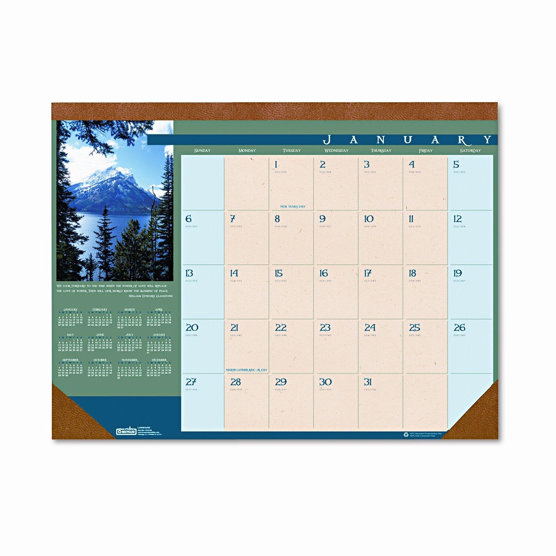 house of doolittle landscapes monthly desk pad calendar reviews wayfair supply