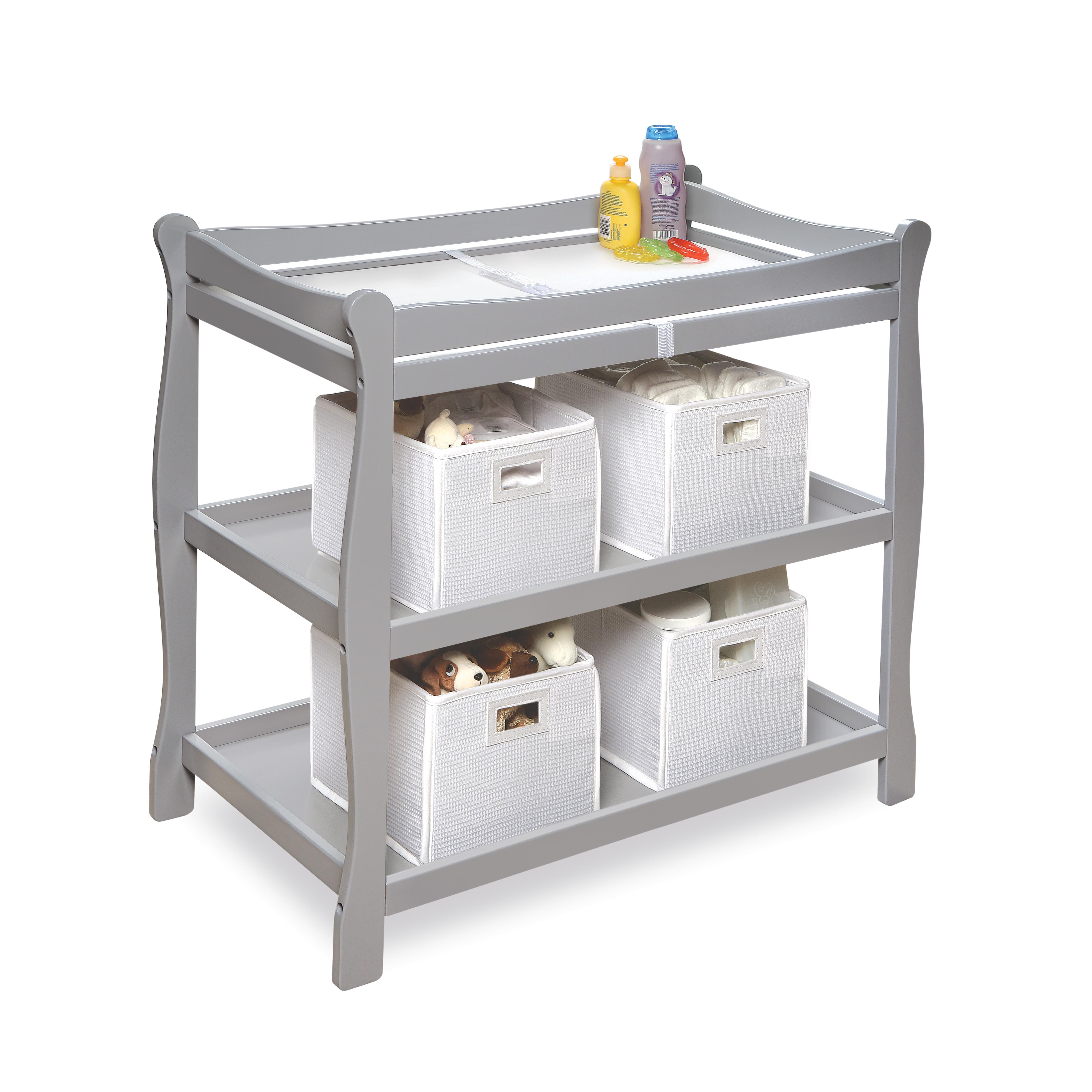 Badger Basket Sleigh Style Baby Changing Table Amp Reviews
