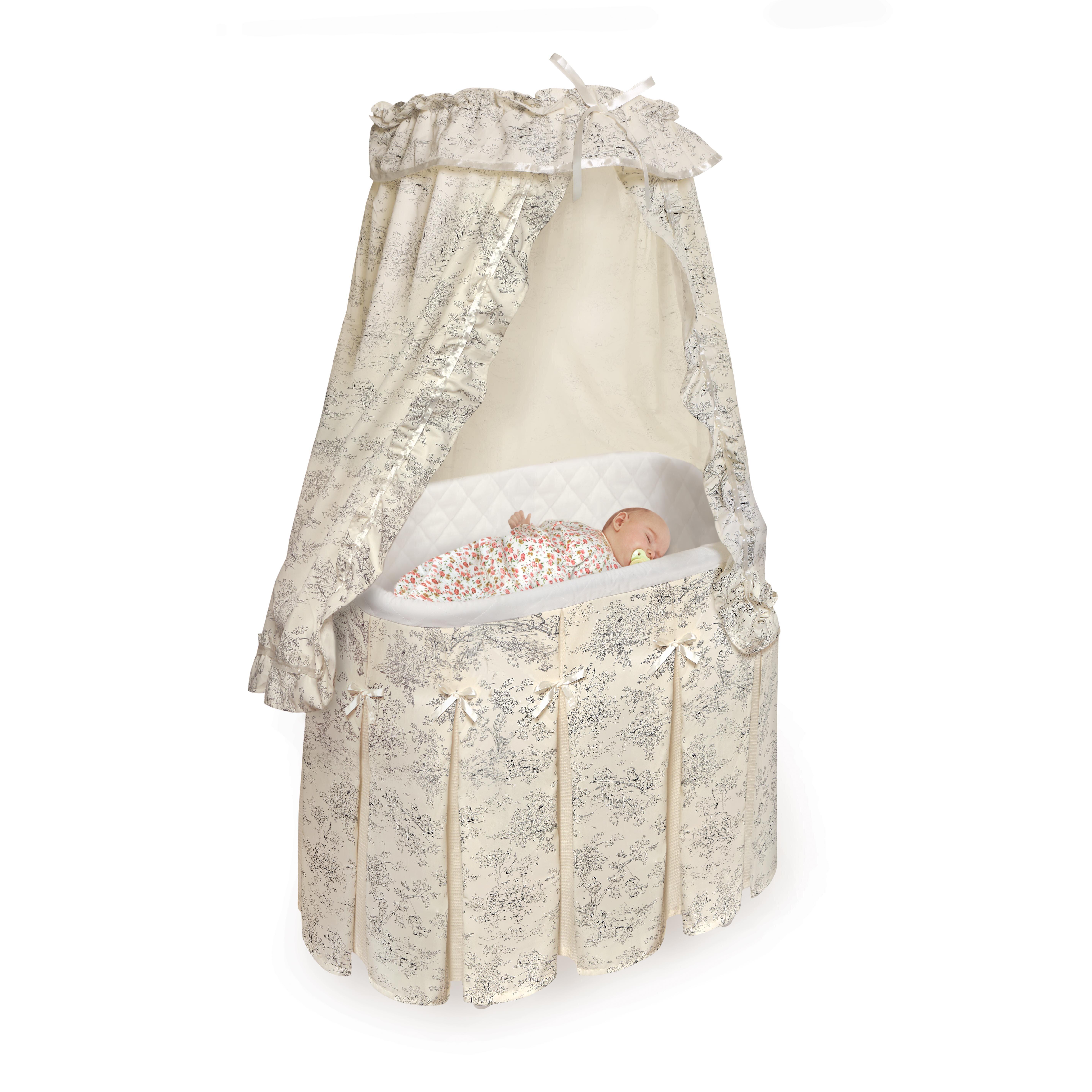 Badger basket majesty baby bassinet reviews wayfair for Baby bassinet
