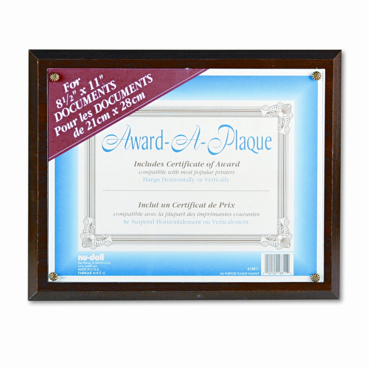 nu dell award a plaque document holder acrylic plastic reviews wayfair. Black Bedroom Furniture Sets. Home Design Ideas