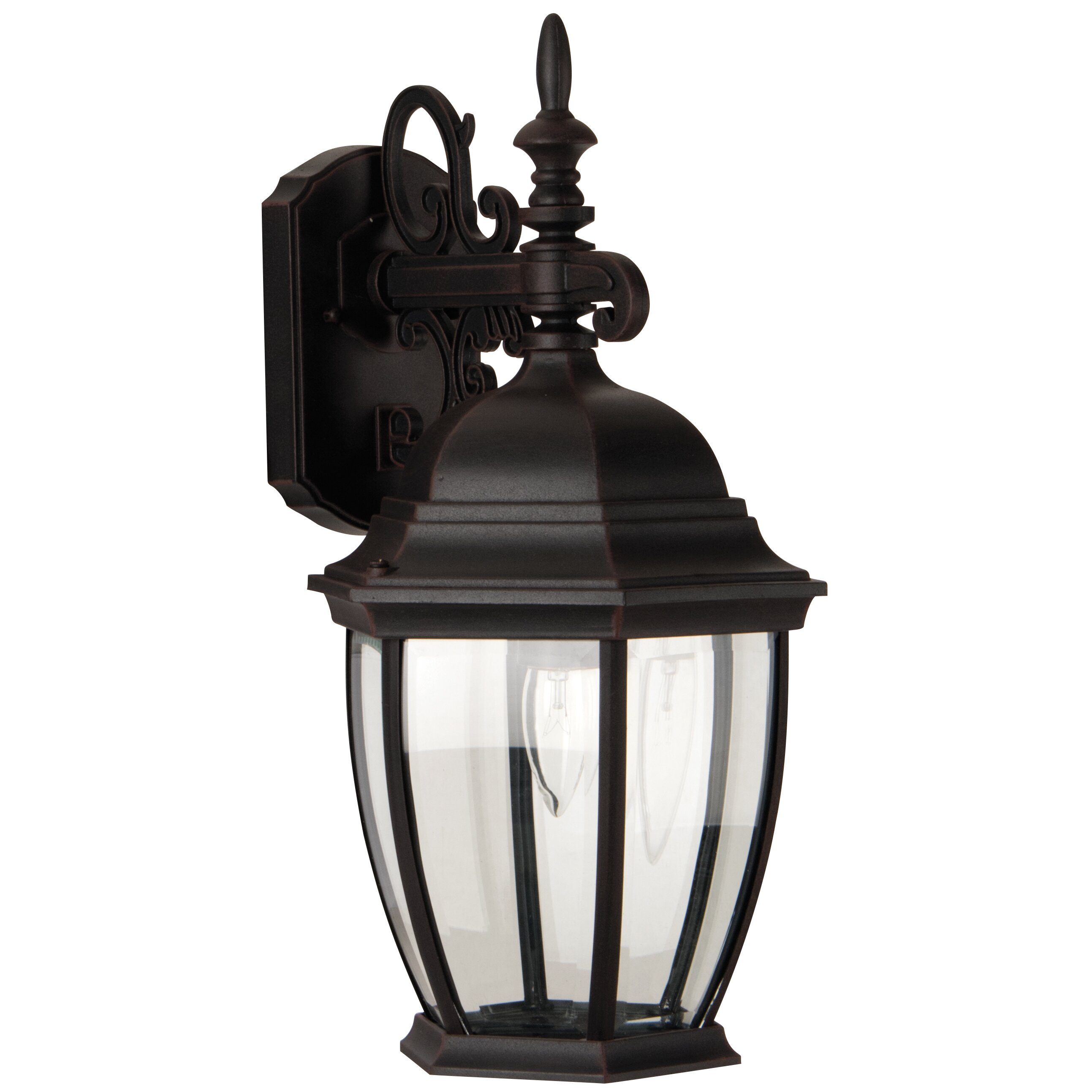 Wall Lantern Replacement Glass : Craftmade Bent Glass 1 Light Outdoor Wall Lantern & Reviews Wayfair