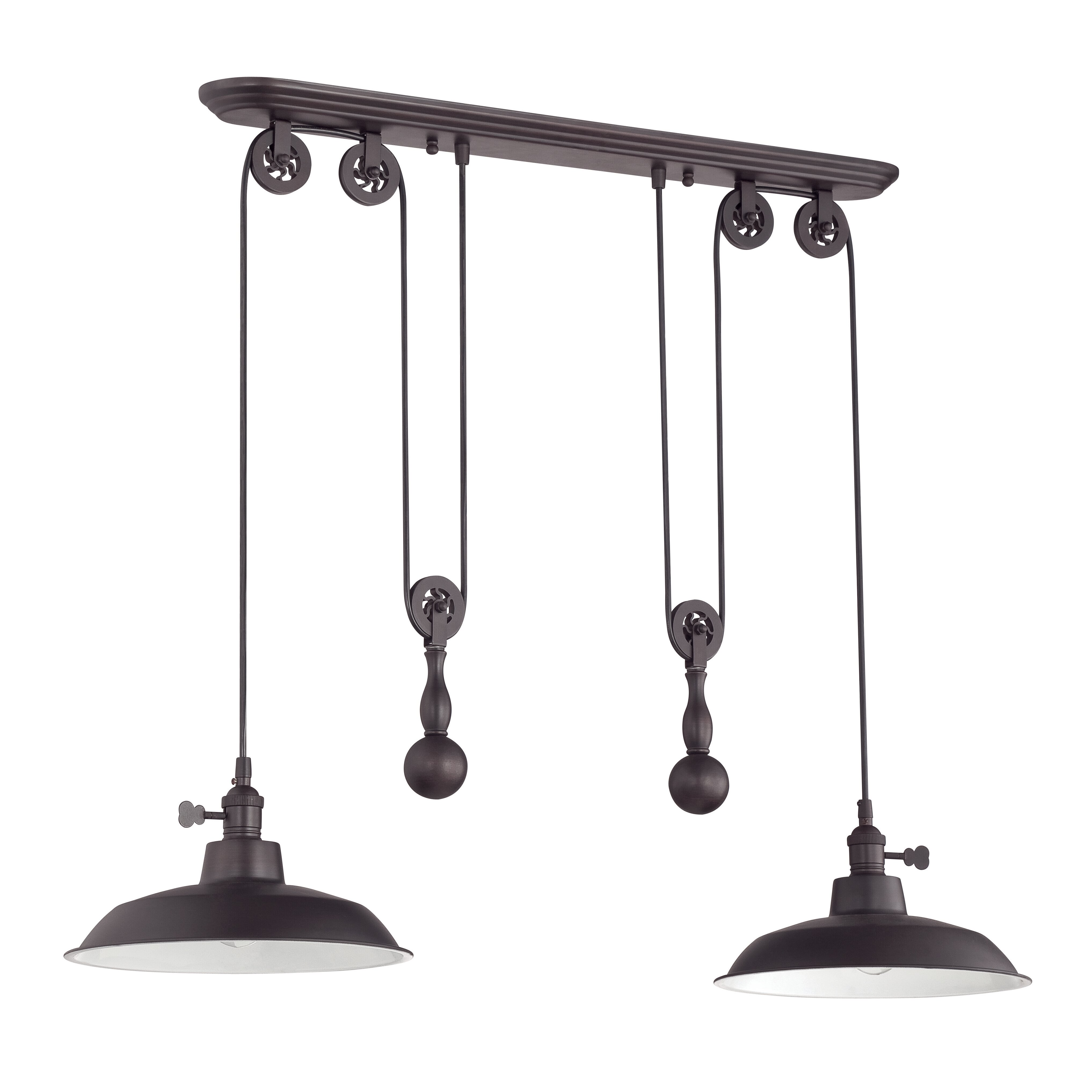 Kitchen Island Pendant Lighting: Craftmade Pulley 2 Light Kitchen Island Pendant & Reviews
