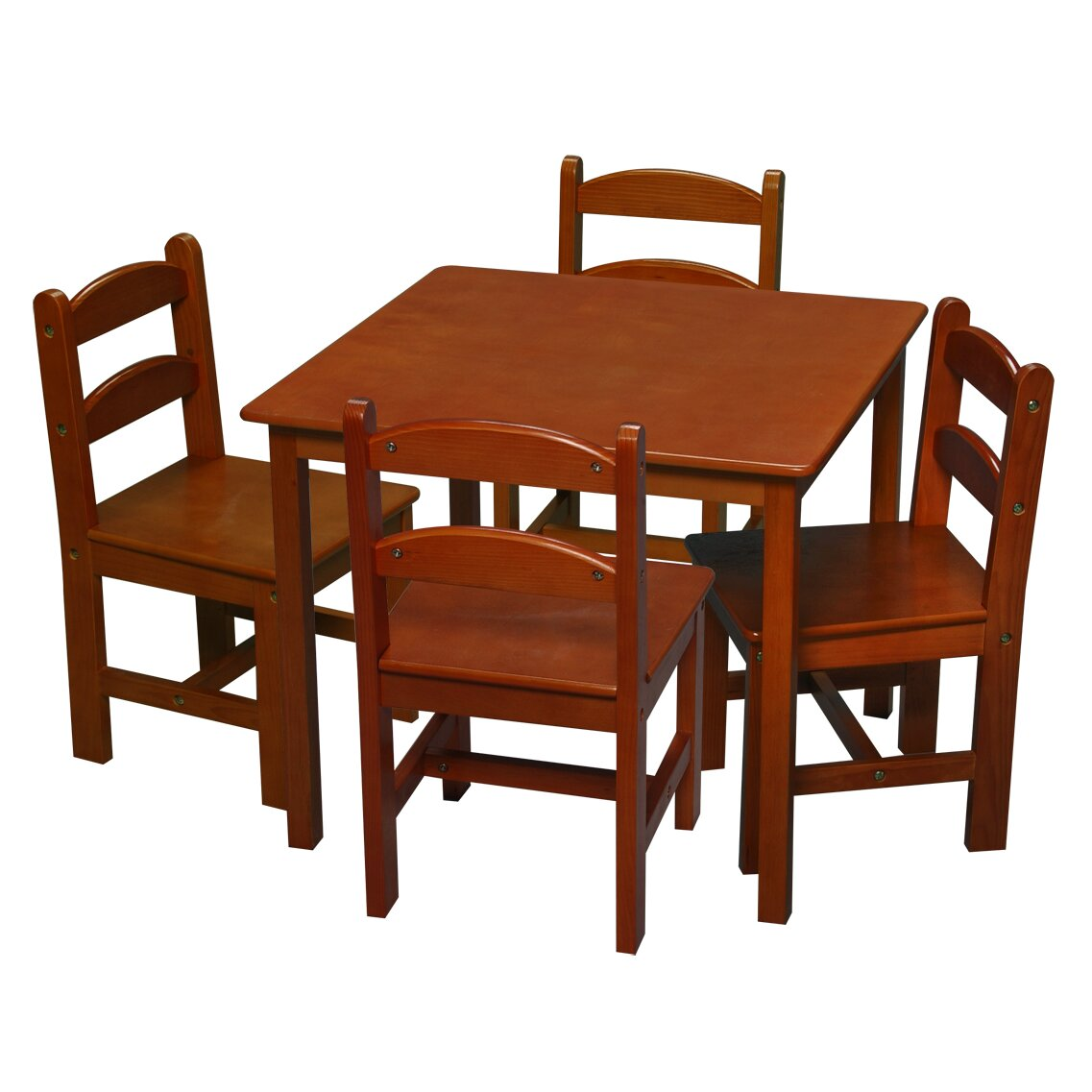 Gift mark kids 5 piece table chair set reviews wayfair for Table chair images