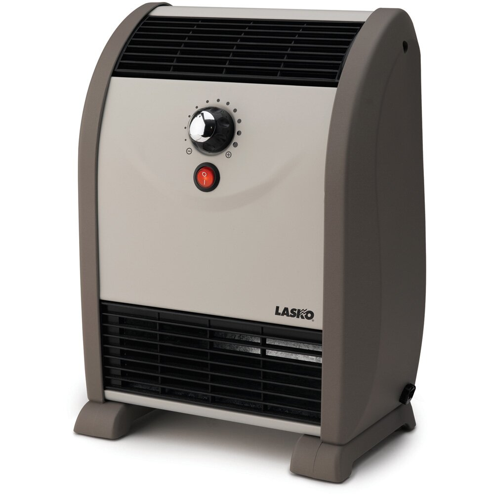 Lasko 1 500 Watt Portable Electric Fan Compact Heater With