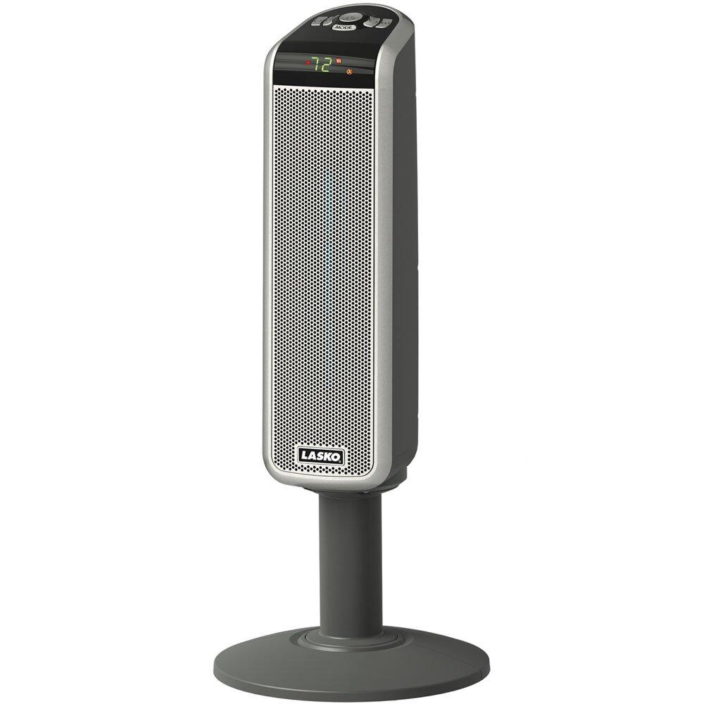 Digital Pedestal Fan : Lasko watt portable electric fan tower heater with