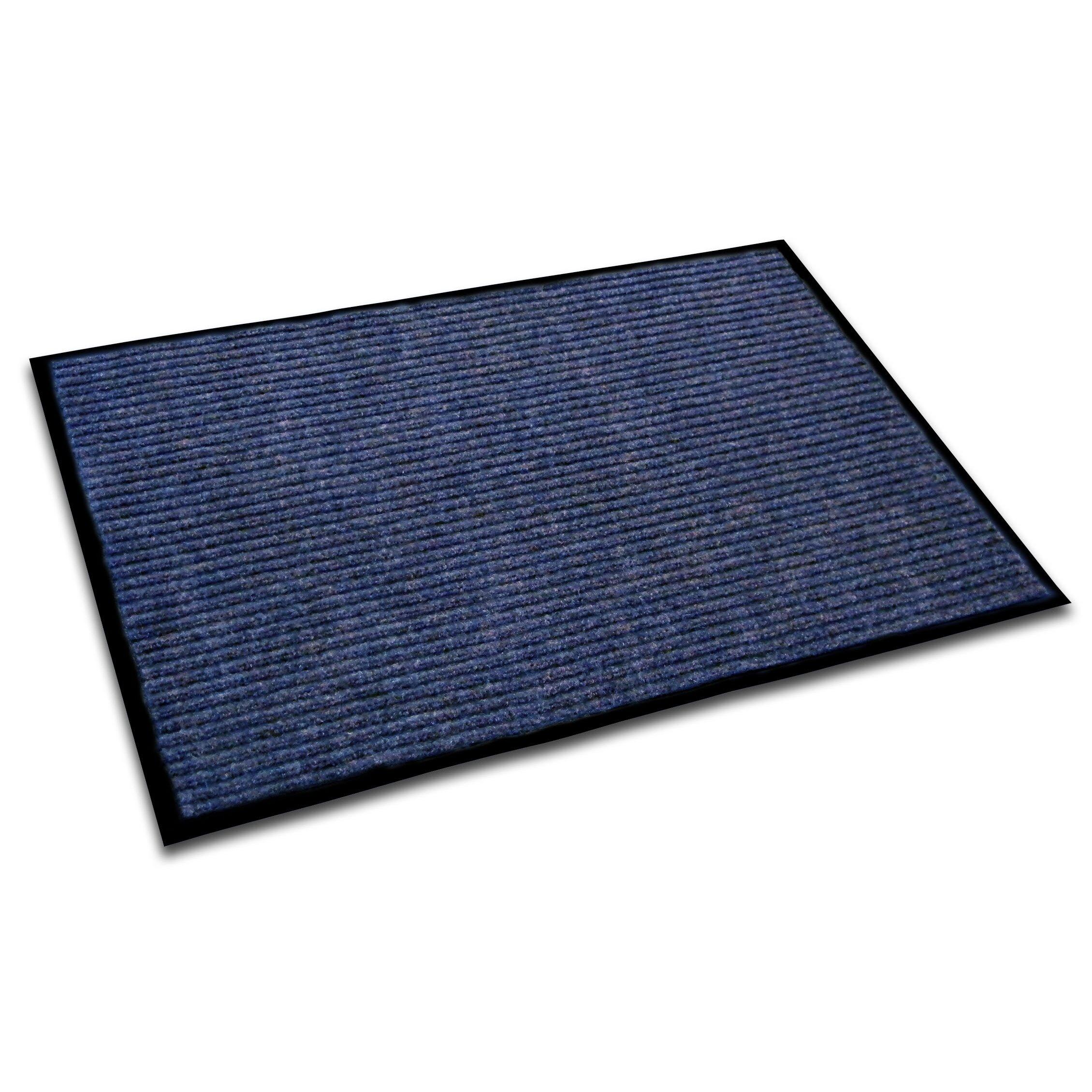 Floortex doortex rectangular indoor ribbed entrance for Indoor front door mat