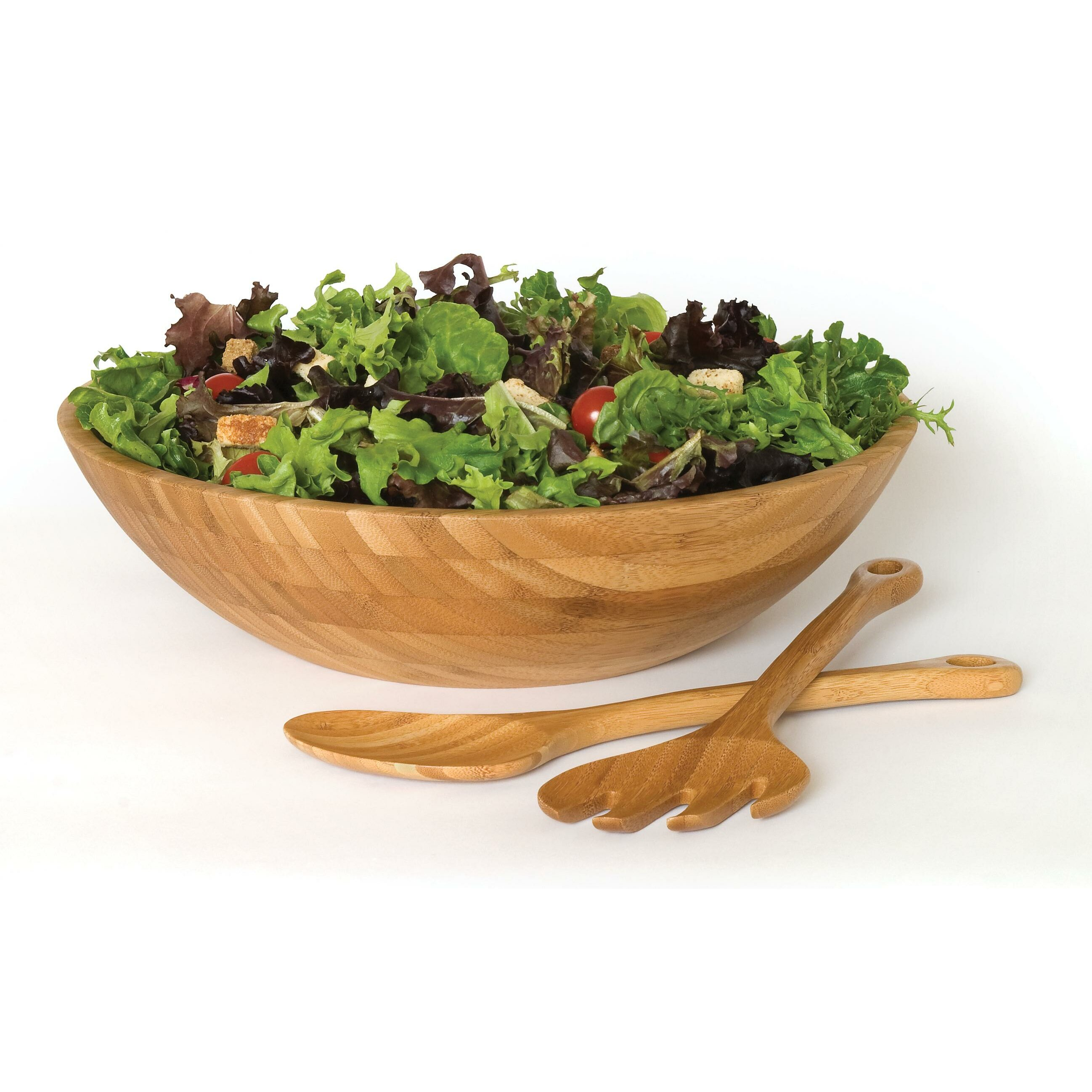 Lipper International Bamboo Salad Bowl 3 Piece Set