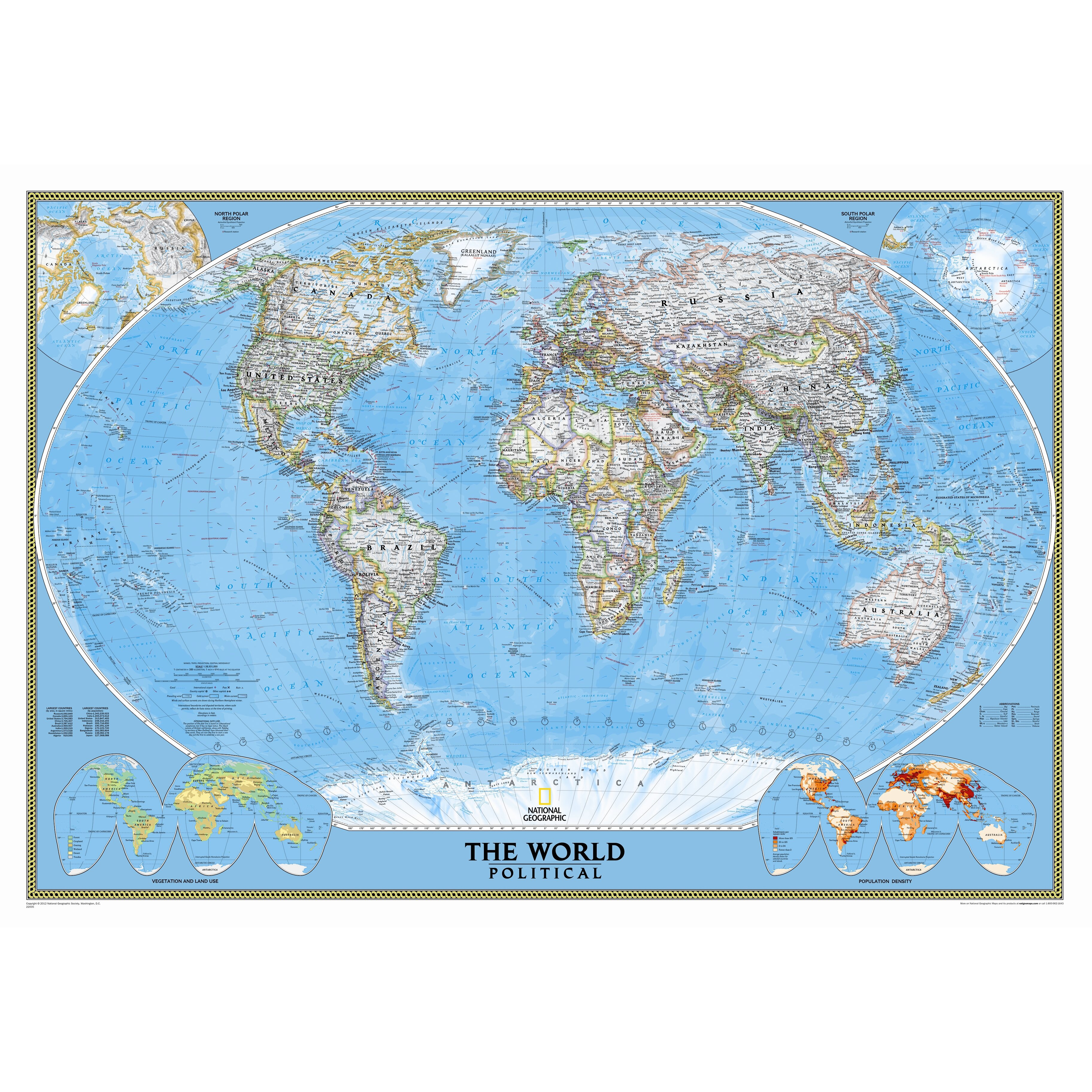 National Geographic Maps World Classic Wall Map Reviews Wayfair