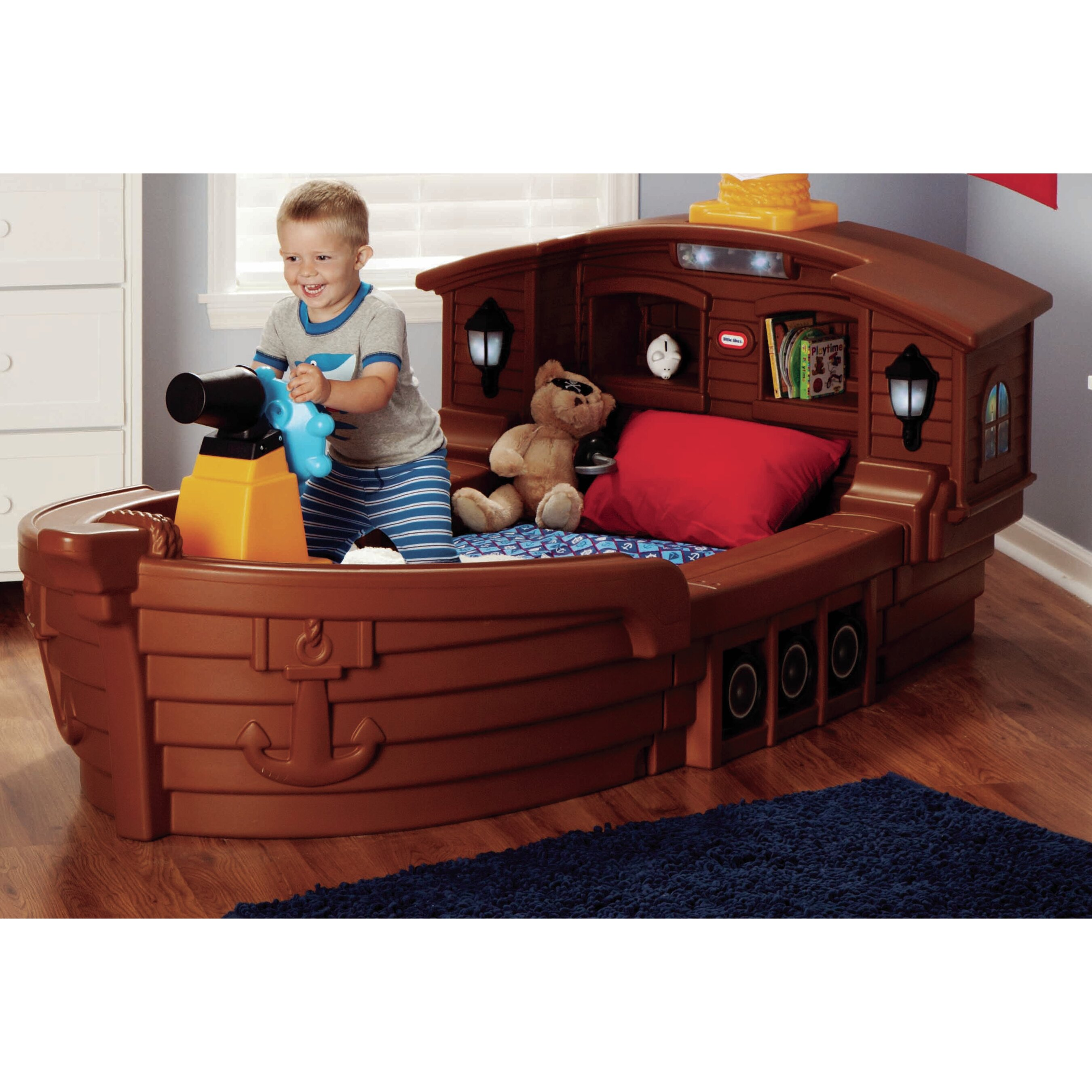 Little Boys Bed: Little Tikes Pirate Ship Toddler Bed & Reviews
