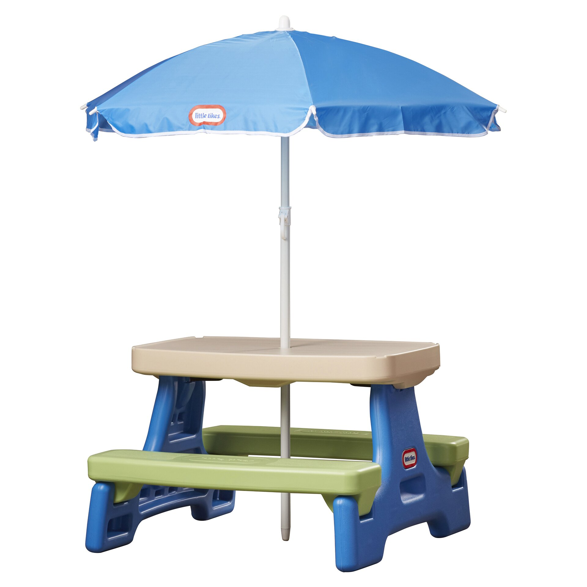 Little tikes easy store jr table with umbrella reviews for Table umbrella