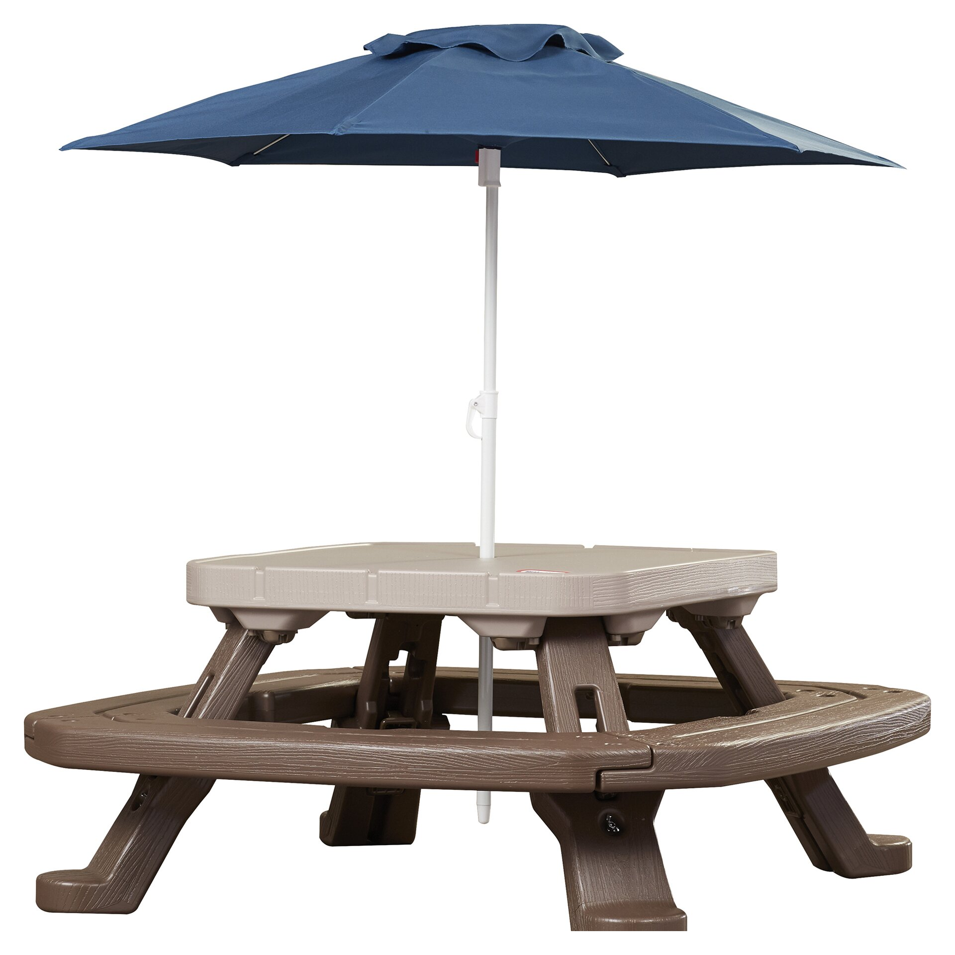 Umbrella For Picnic Table : ... Adventures Fold n Store Umbrella Picnic Table & Reviews  Wayfair