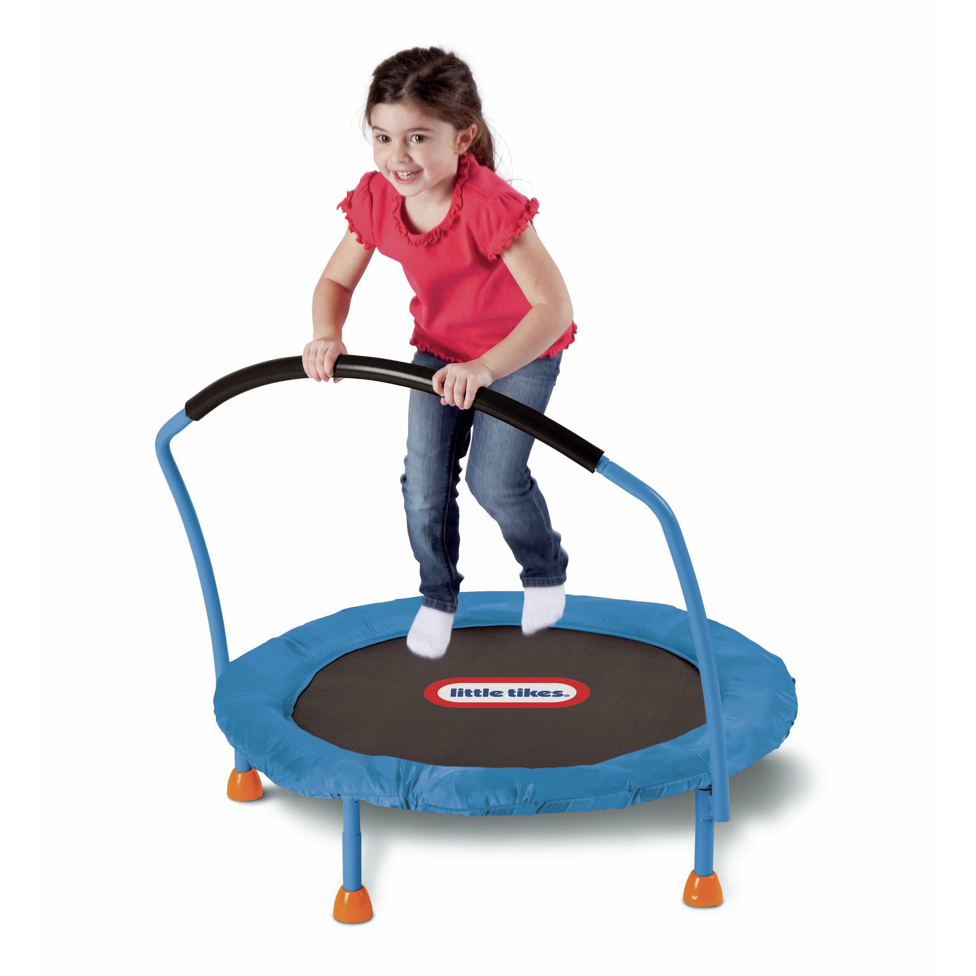 This Little Tikes 3-foot kid's trampoline is the perfect size to provide hours of bouncing fun! Little Tikes knows it's important for kids to stay active. This Little Tikes 3-foot trampoline is the perfect size to provide hours of bouncing fun.