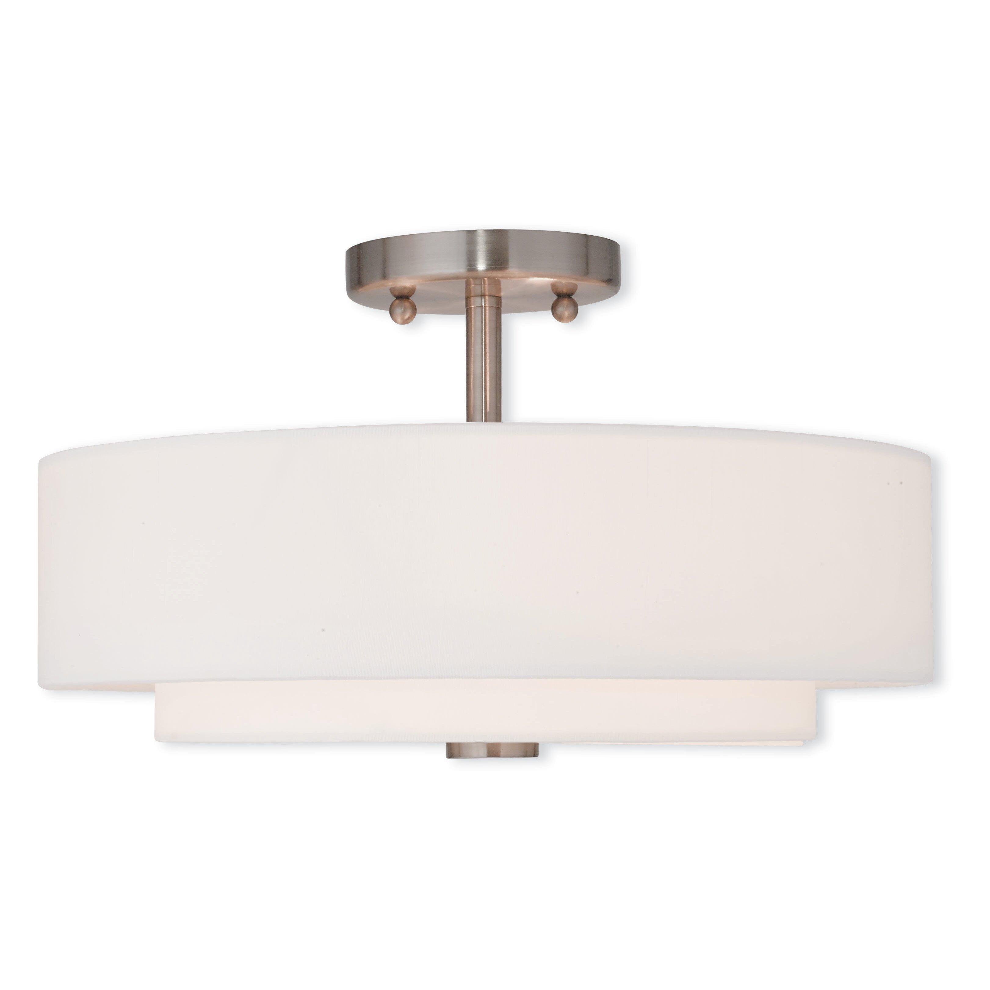 Livex Lighting Claremont 3 Light Semi Flush Mount