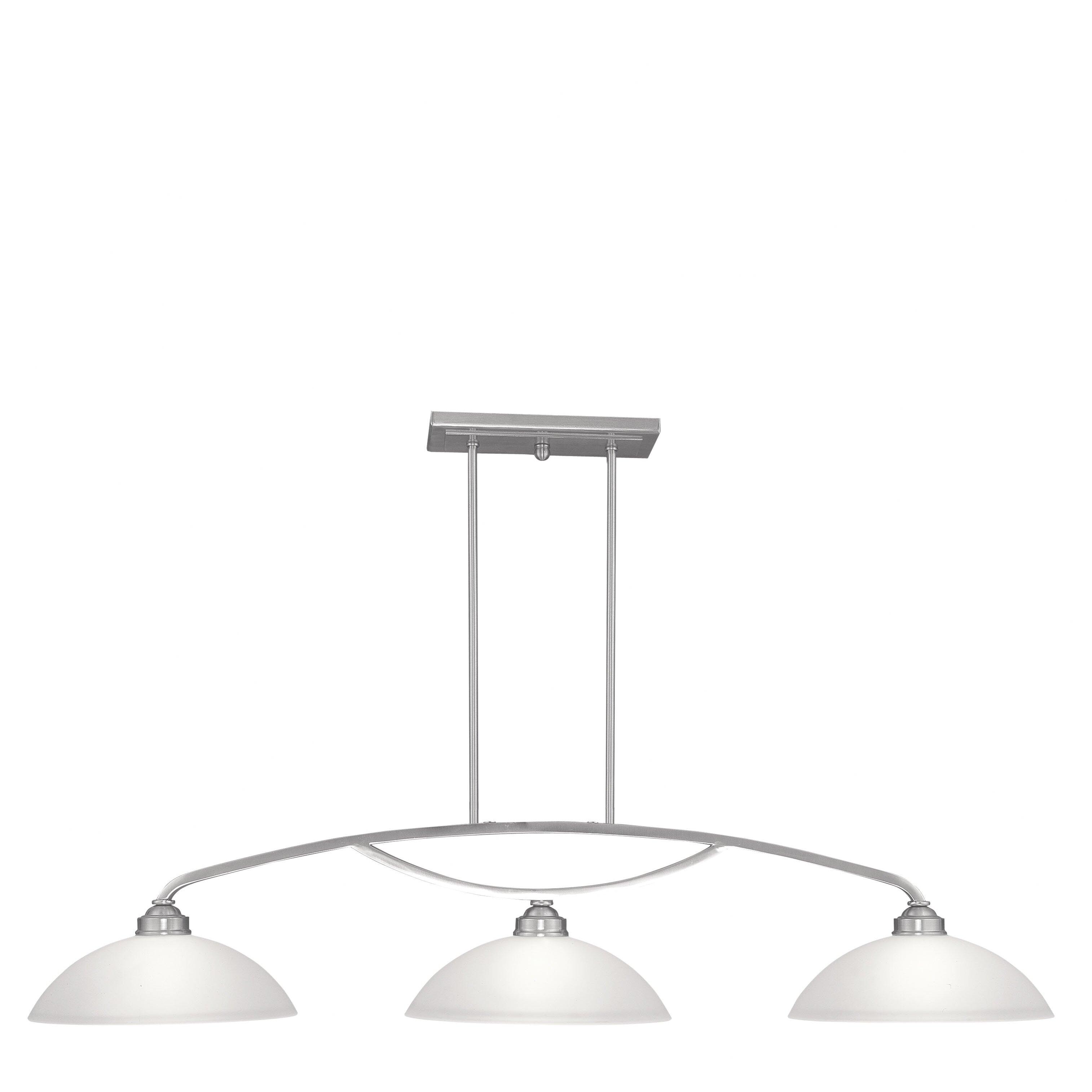 3 Light Pendant Island Kitchen Lighting: Livex Lighting Somerset 3 Light Kitchen Island Pendant