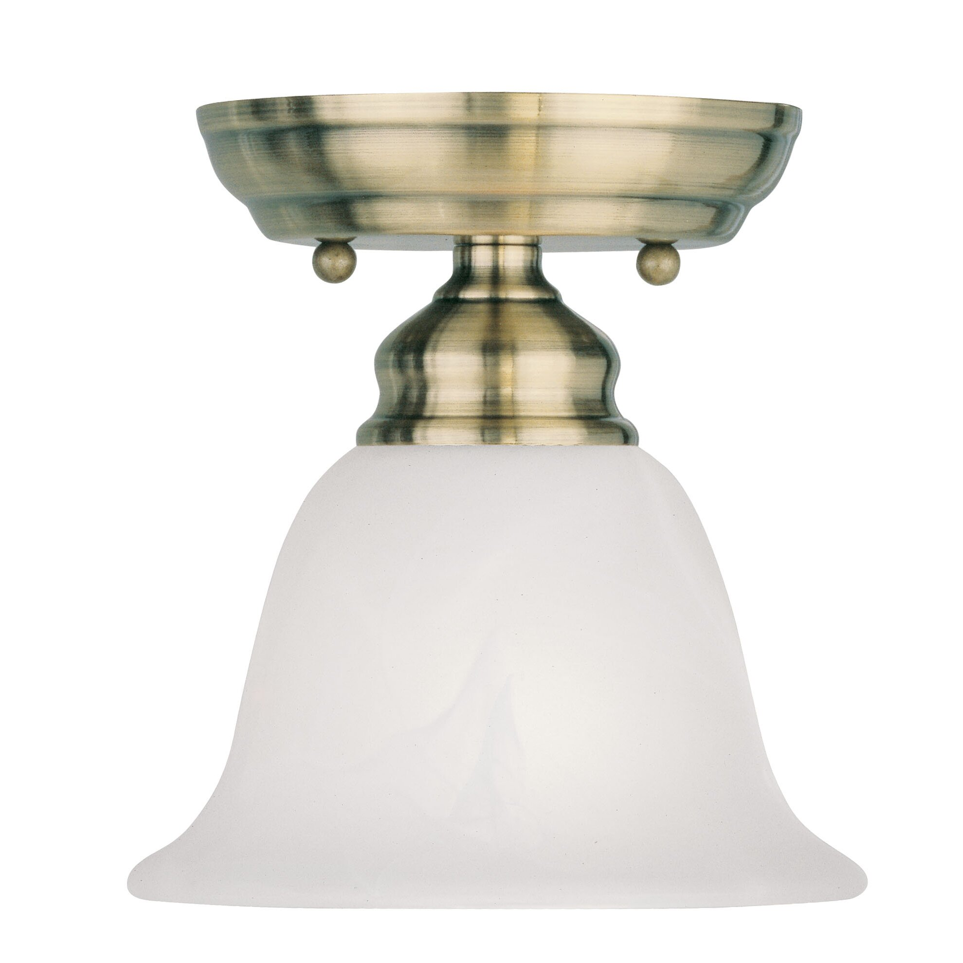 Livex Lighting Essex 1 Light Semi Flush Mount & Reviews