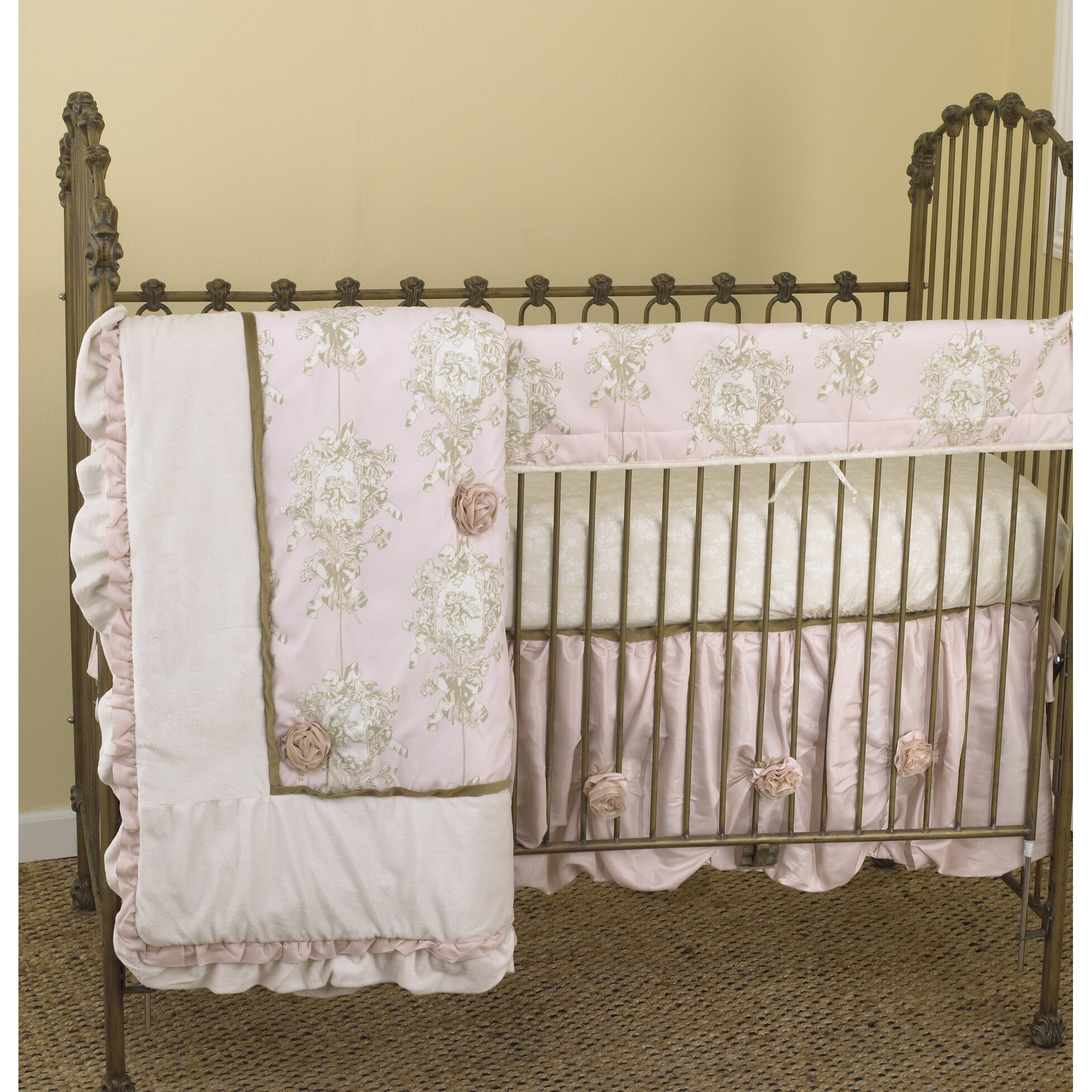 Cotton Tale Lollipops & Roses 4 Piece Crib Bedding Set