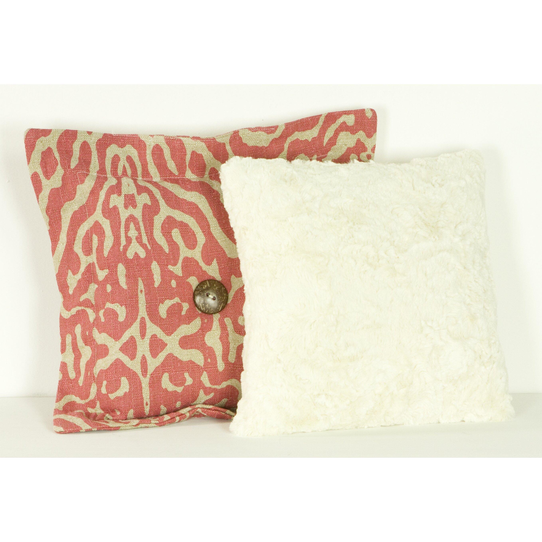 Cotton Tale Raspberry Dot Cotton Throw Pillow & Reviews Wayfair