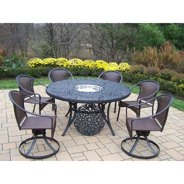 Oakland Living Tuscany 7 Piece Dining Set Wayfair