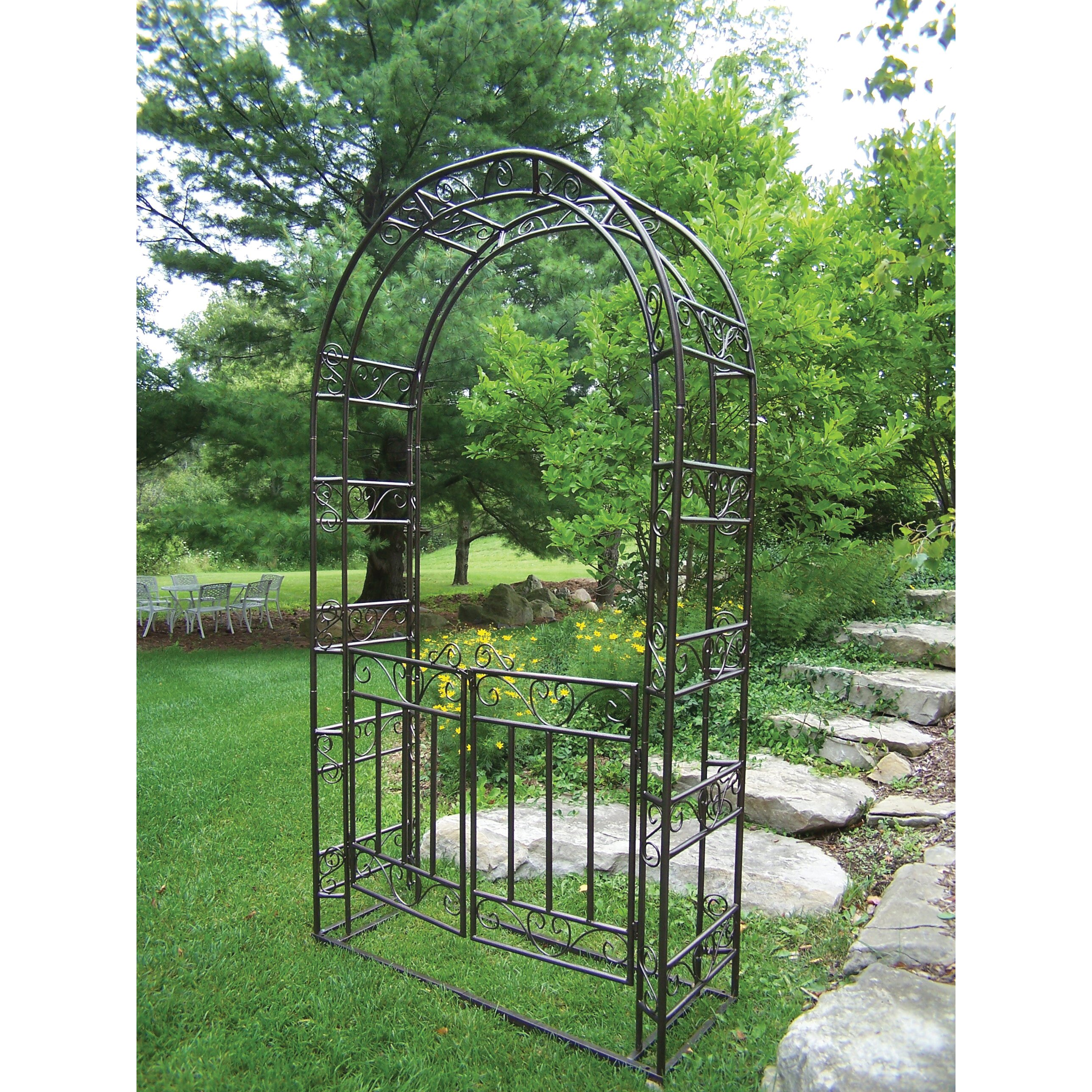 Arbor Living: Oakland Living Arbor With Gate And Base & Reviews