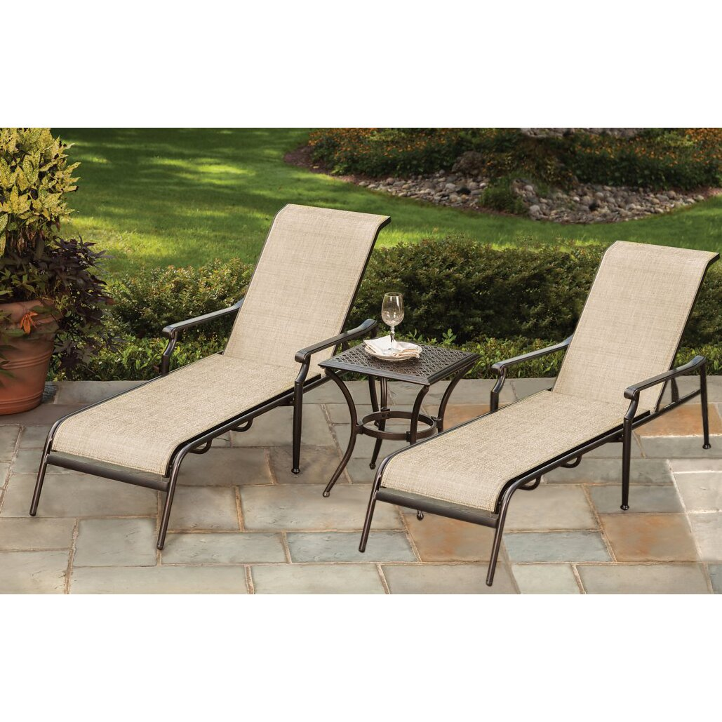 Oakland living bali 3 piece chaise lounge set wayfair for Balinese chaise lounge