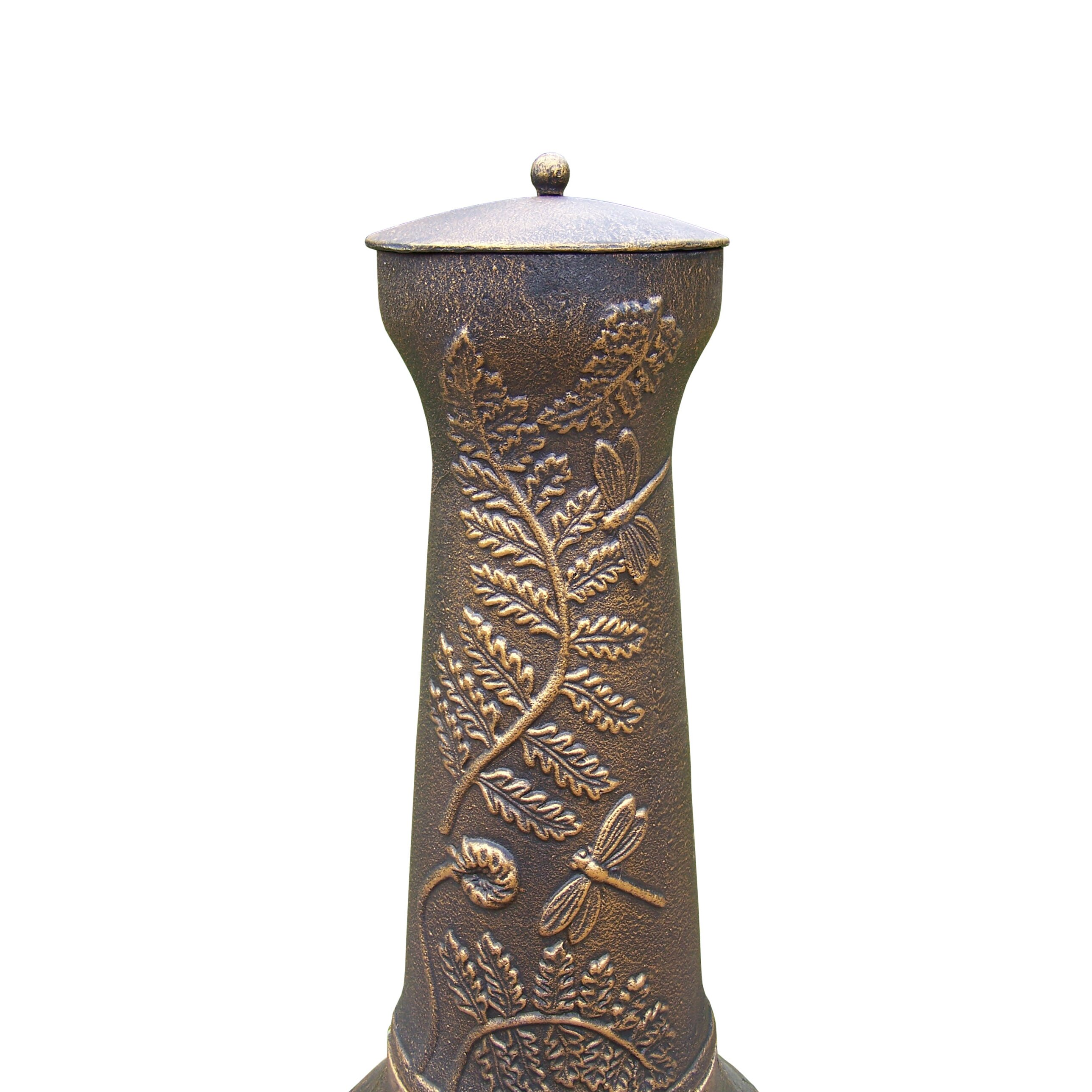 Oakland Living Dragonfly Cast Metal Chiminea & Reviews ...