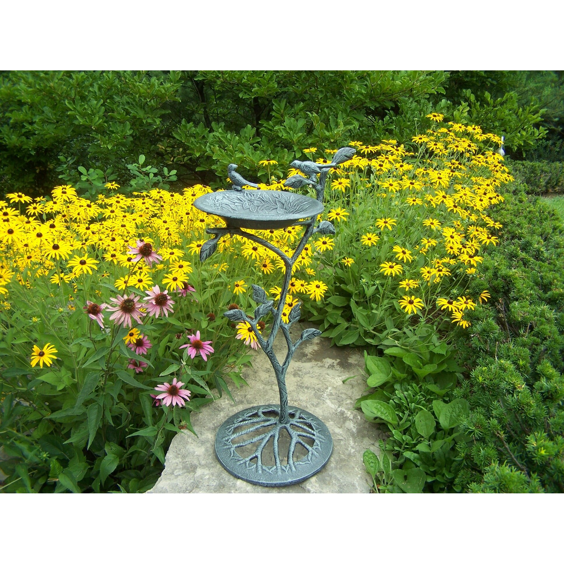 Oakland Living Feathers Meadow Bird Bath Reviews Wayfair