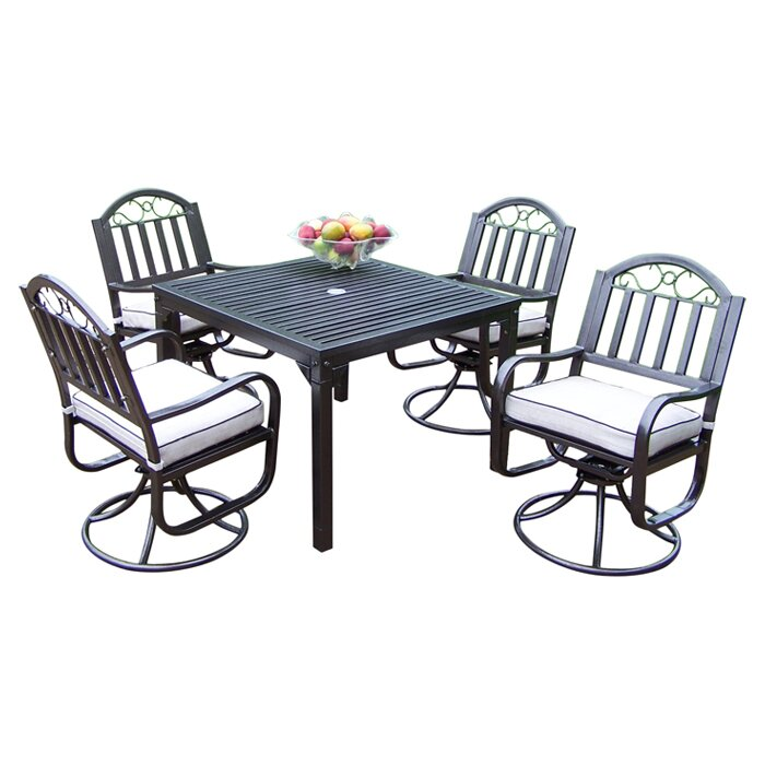 Oakland Living Rochester Dining Set with Cushions & Reviews