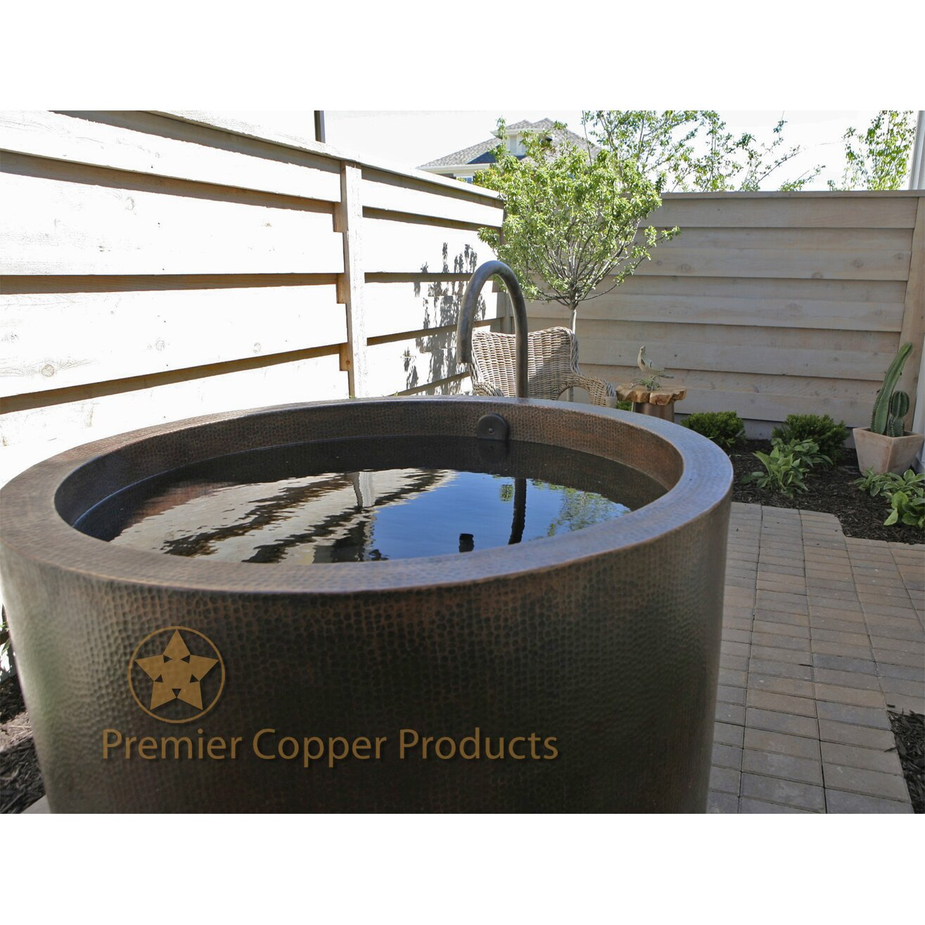 premier copper products 45 x 45 hand hammered japanese