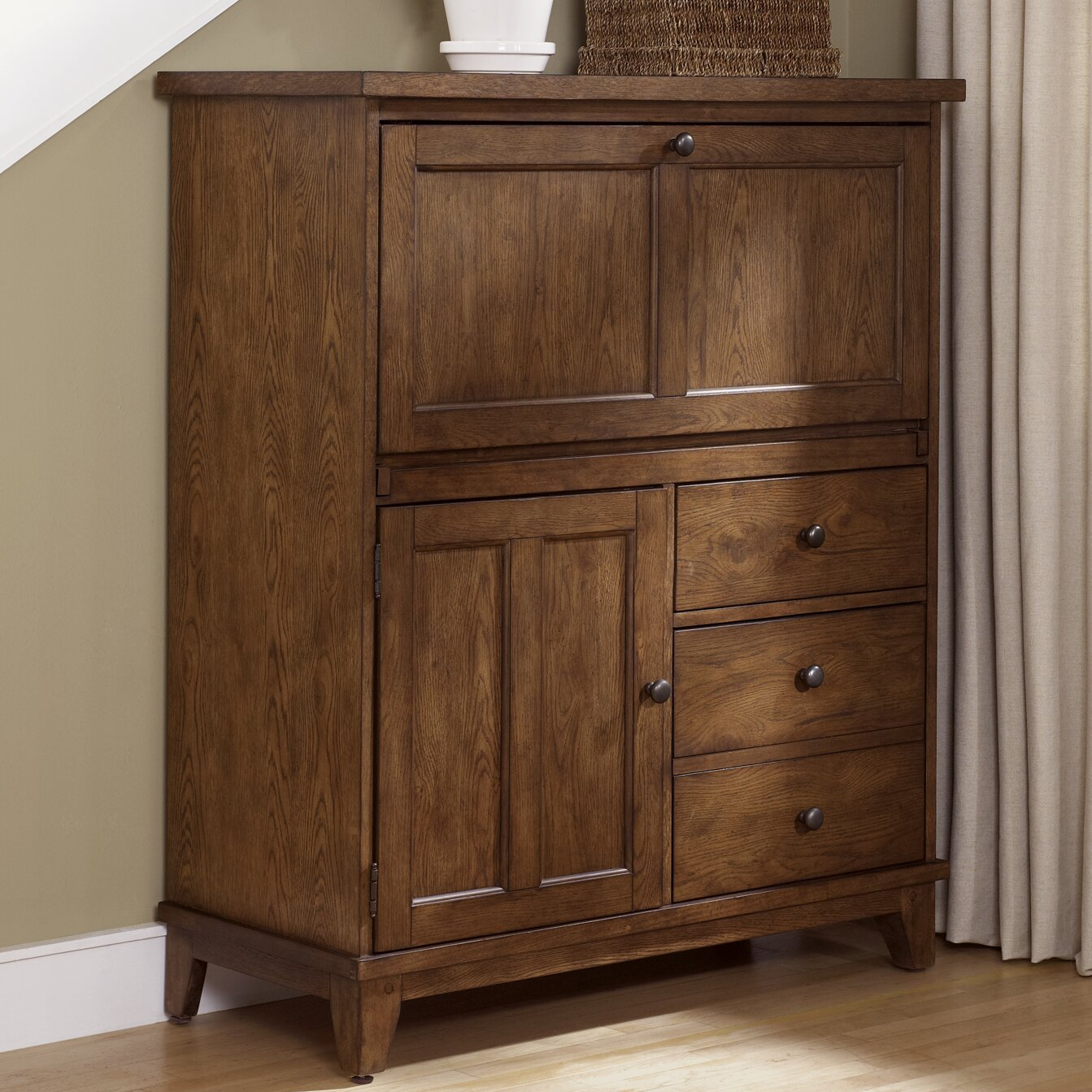 Liberty Furniture Hearthstone Computer Desk With Cabinet