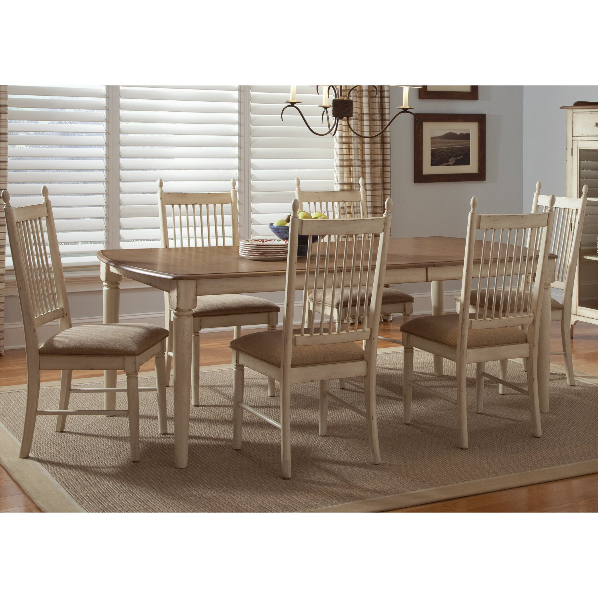 Liberty Furniture Low Country Sand Dining Bench At Hayneedle: Liberty Furniture Cottage Cove Extendable Dining Table