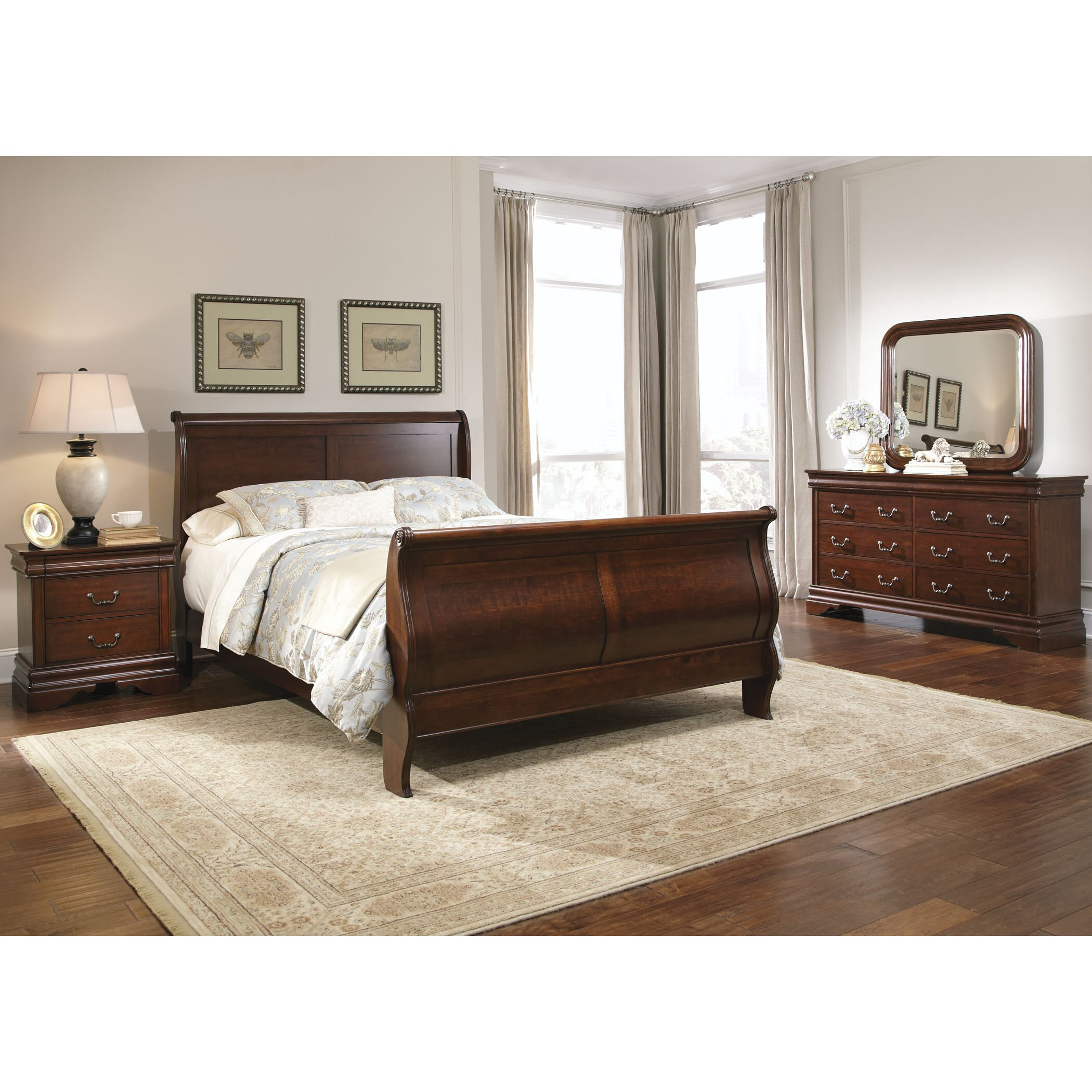 Liberty Furniture Carriage Court Sleigh Customizable Bedroom Set Reviews