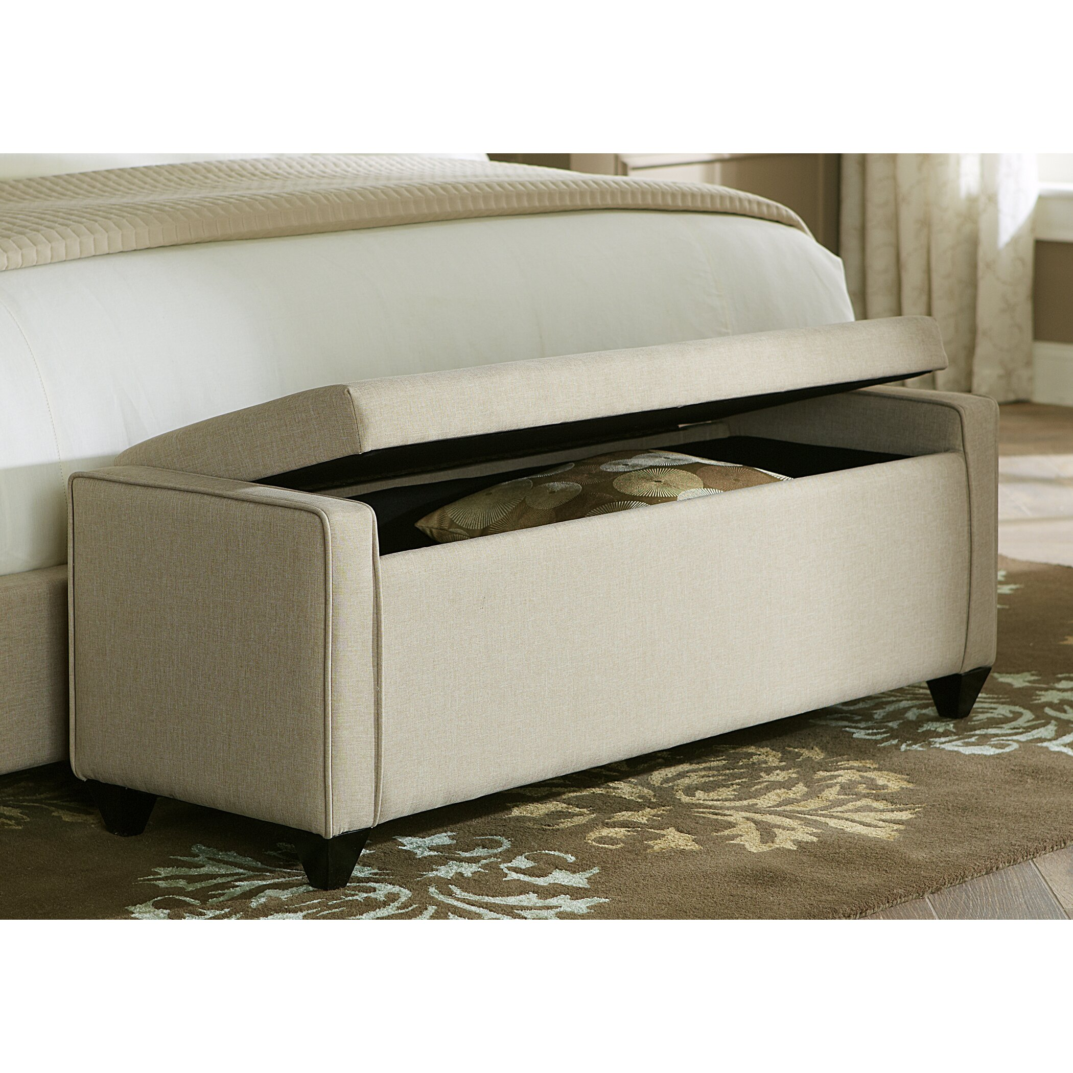 Liberty furniture upholstered storage bedroom bench for Bedroom upholstered bench