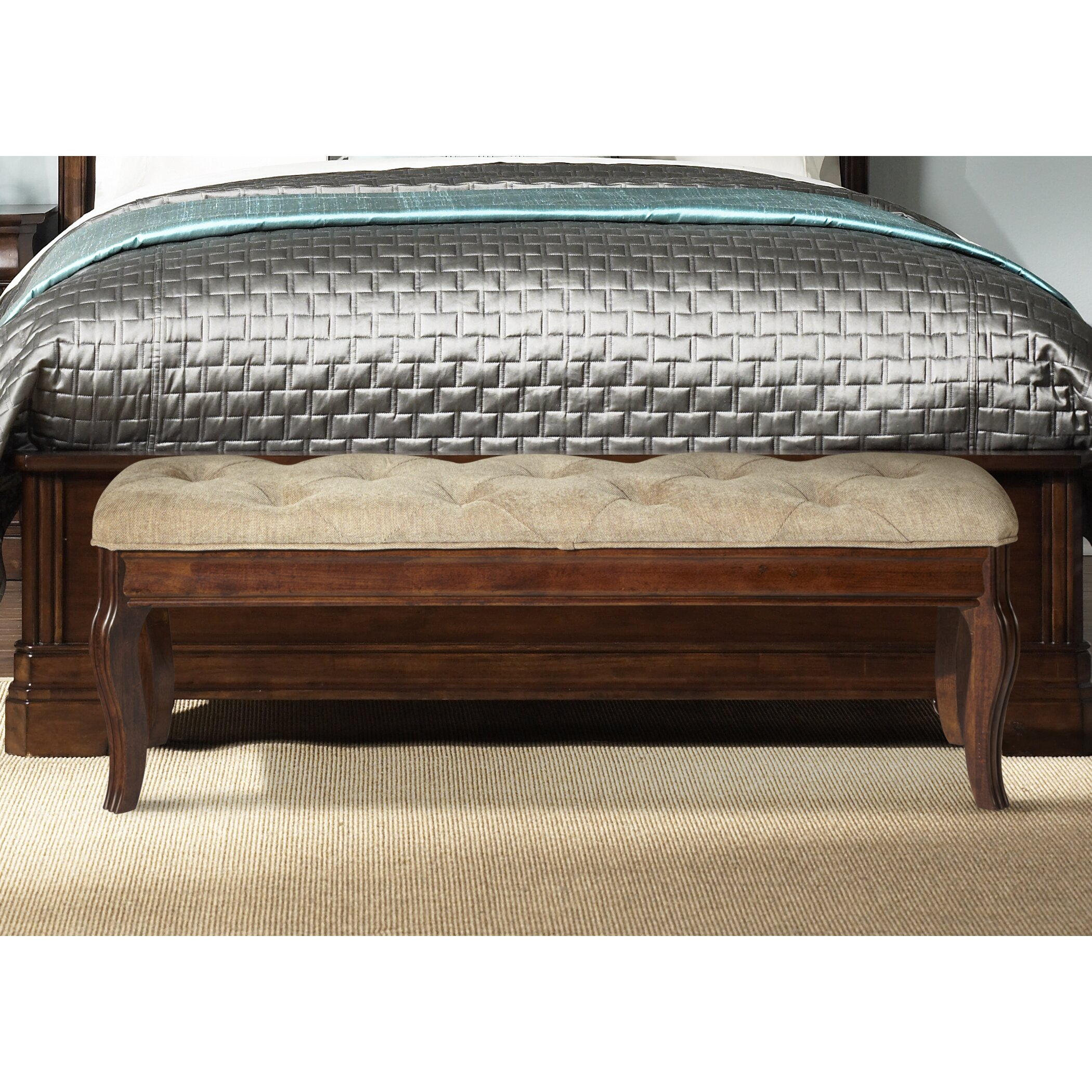 Rosalind wheeler ruppert upholstered bedroom bench for Bedroom upholstered bench