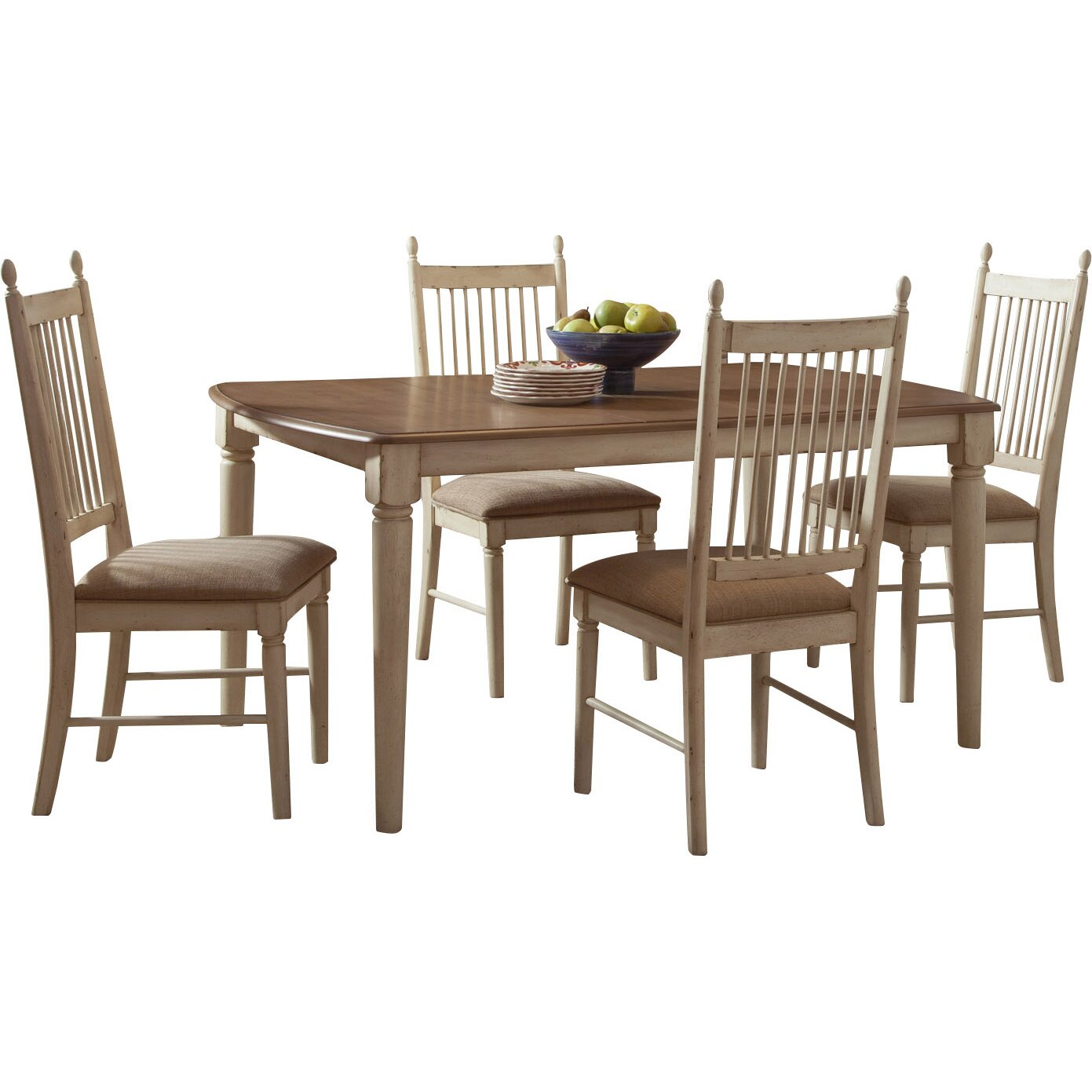 Liberty furniture cottage cove extendable dining table for Cottage furniture