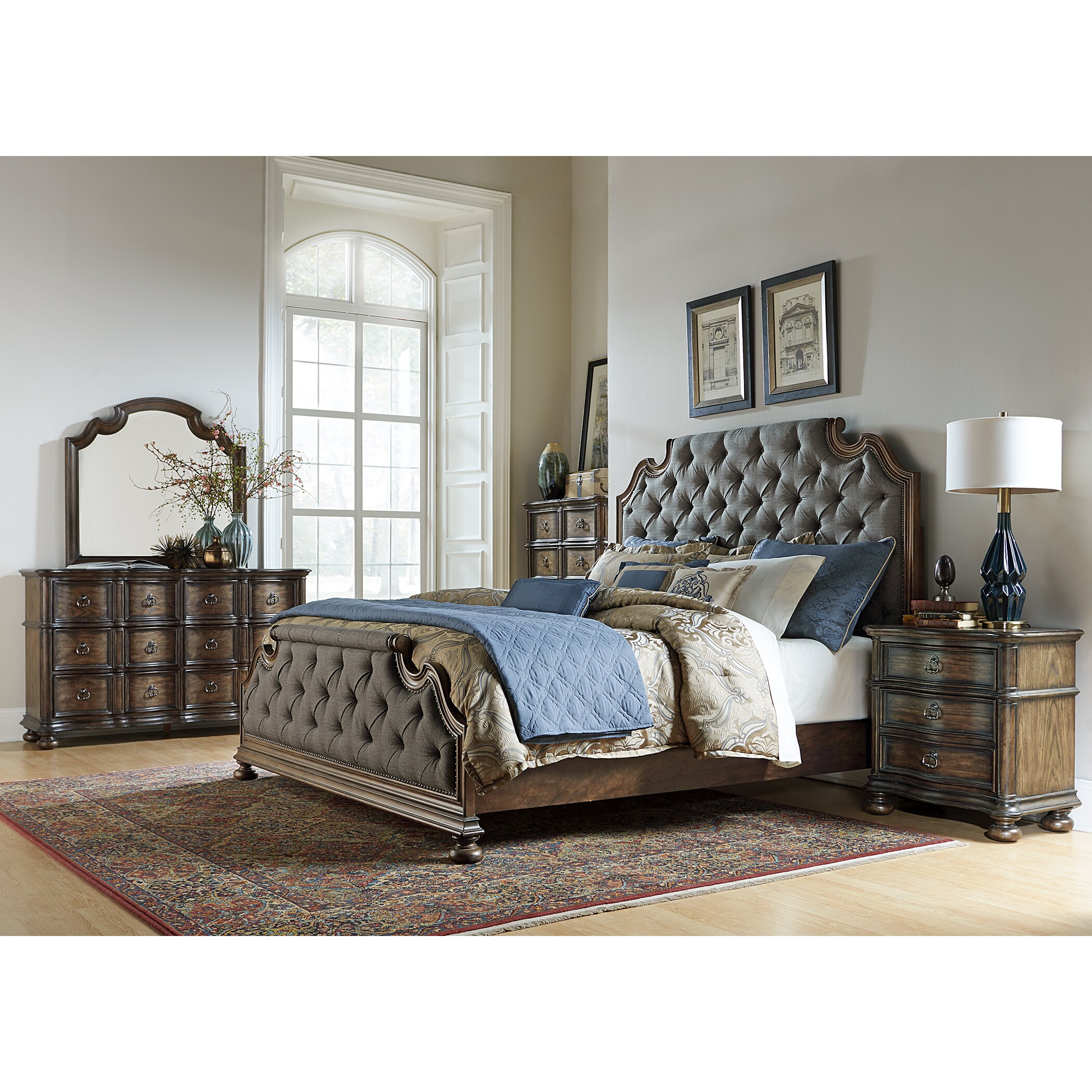 Tuscany Bedroom Furniture: Liberty Furniture Tuscan Valley Upholstered Panel Bed
