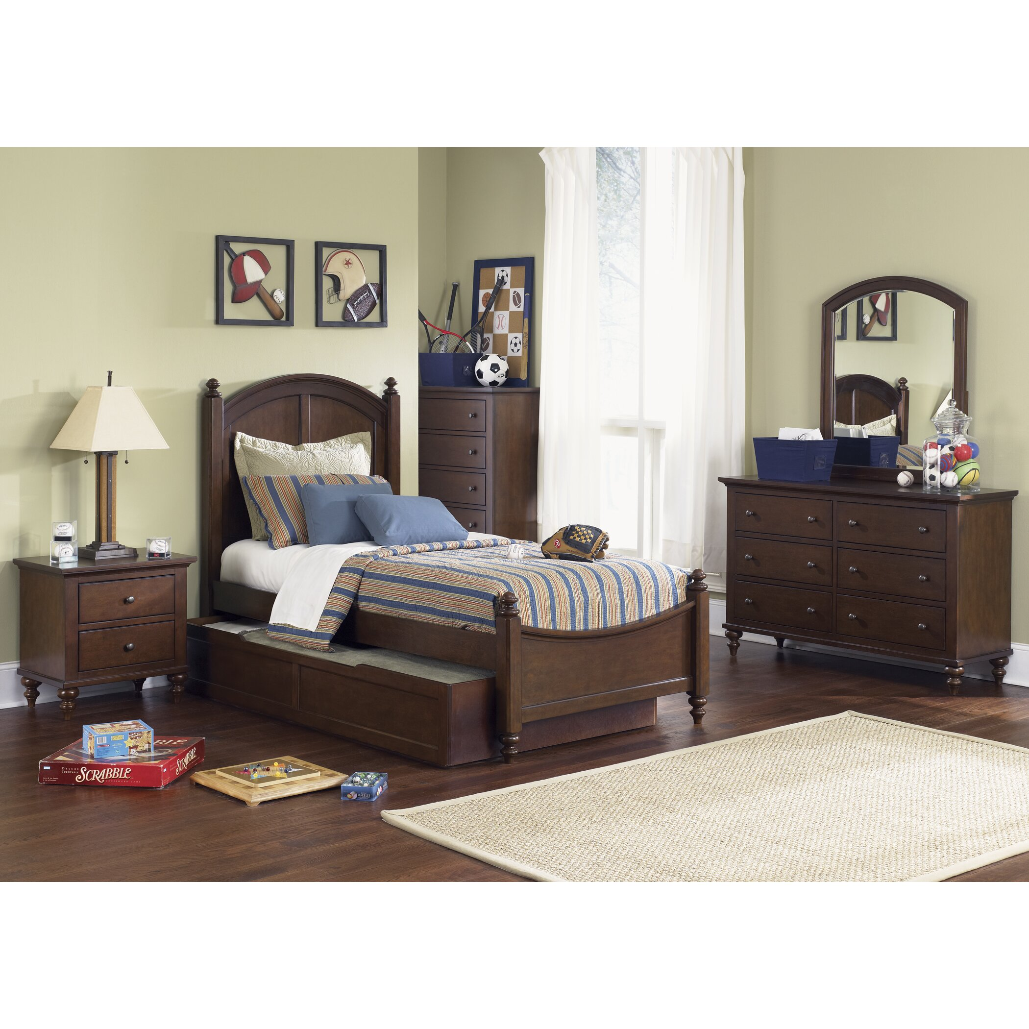 Liberty Furniture Abbott Ridge Panel Customizable Bedroom