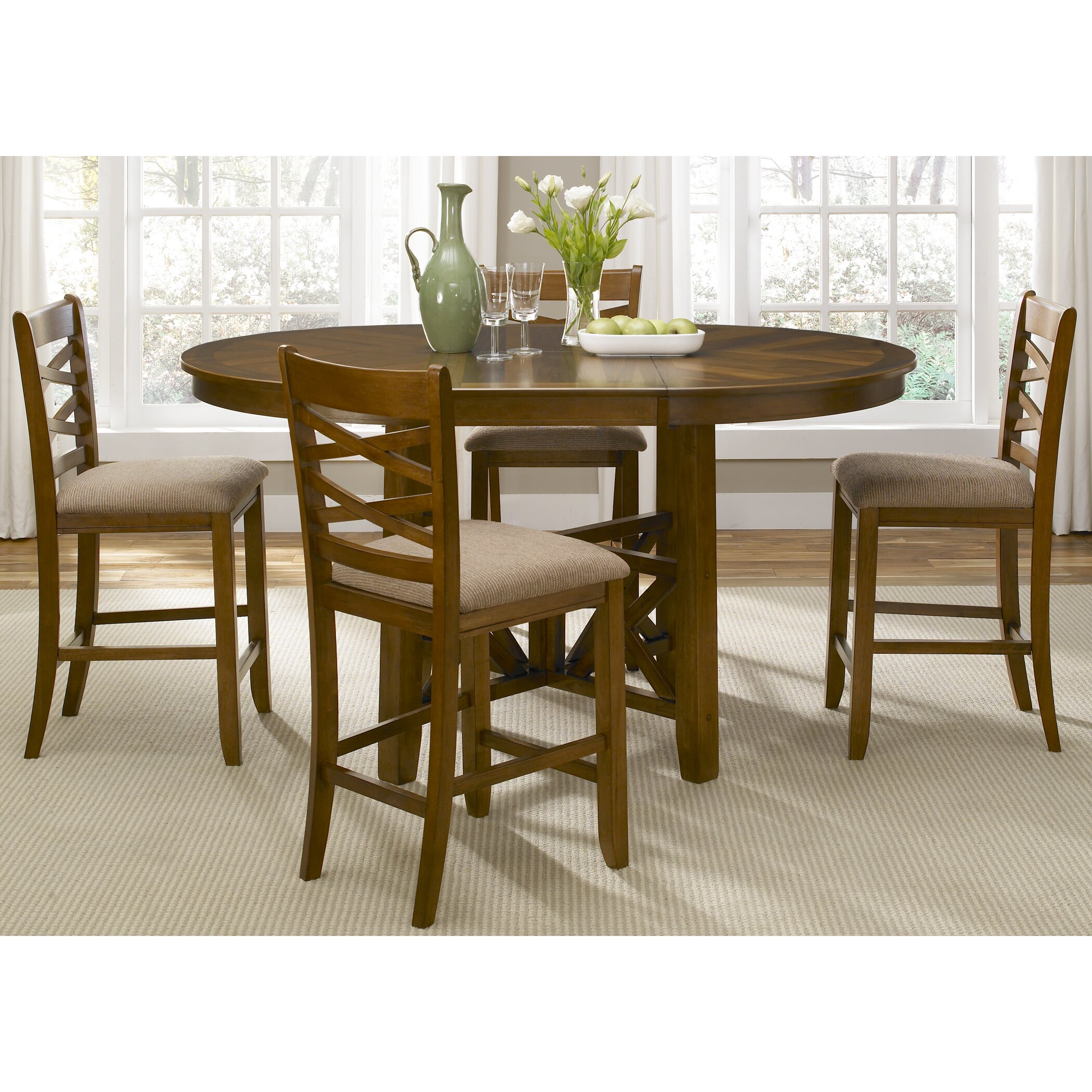 Liberty furniture bistro 5 piece dining set reviews for Breakfast sets furniture