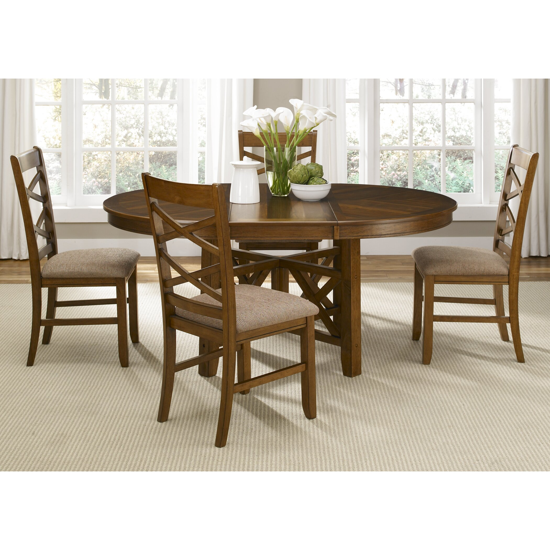 Liberty furniture bistro 5 piece dining set reviews for Dinette furniture