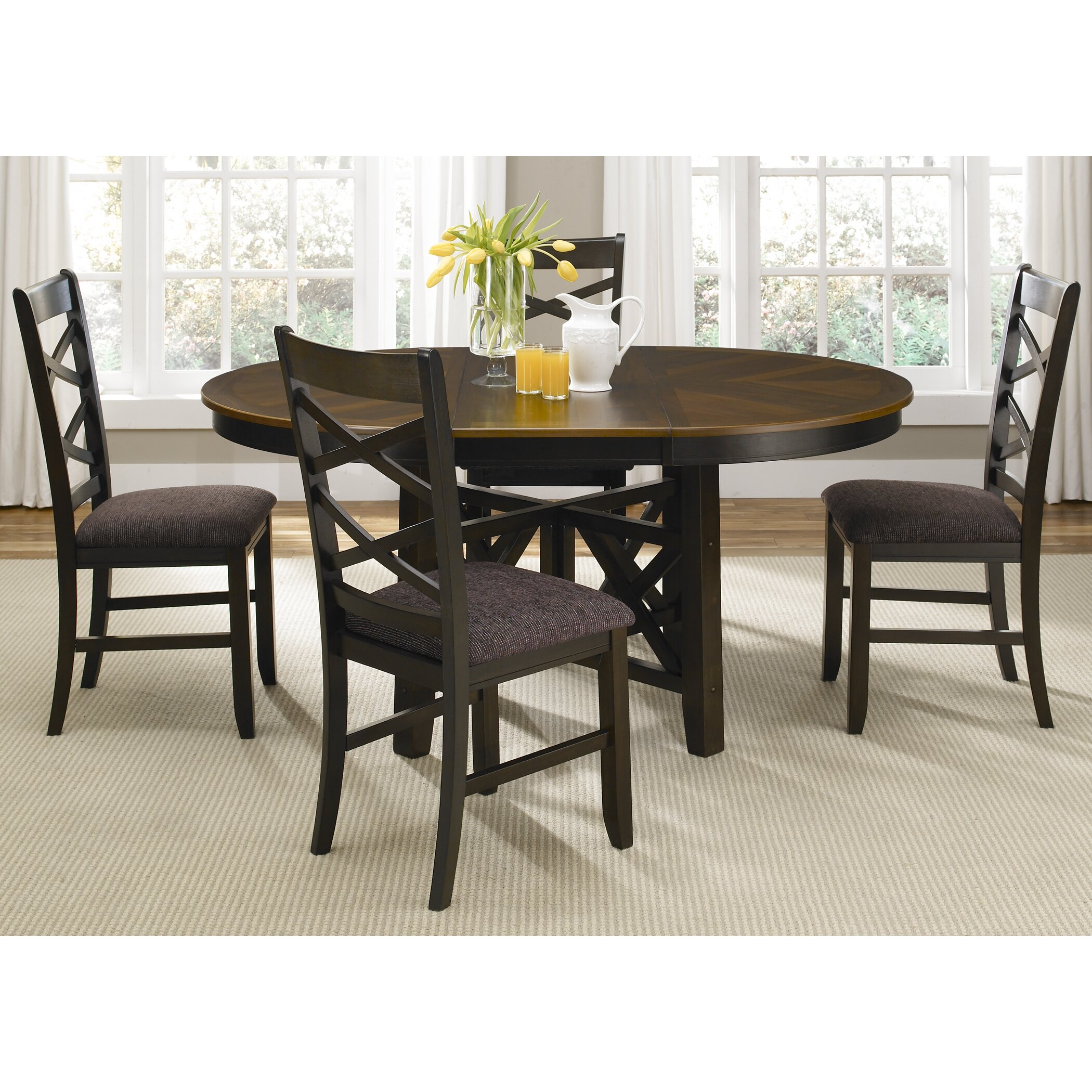 Liberty furniture bistro ii 5 piece dining set reviews for 5 piece dining set