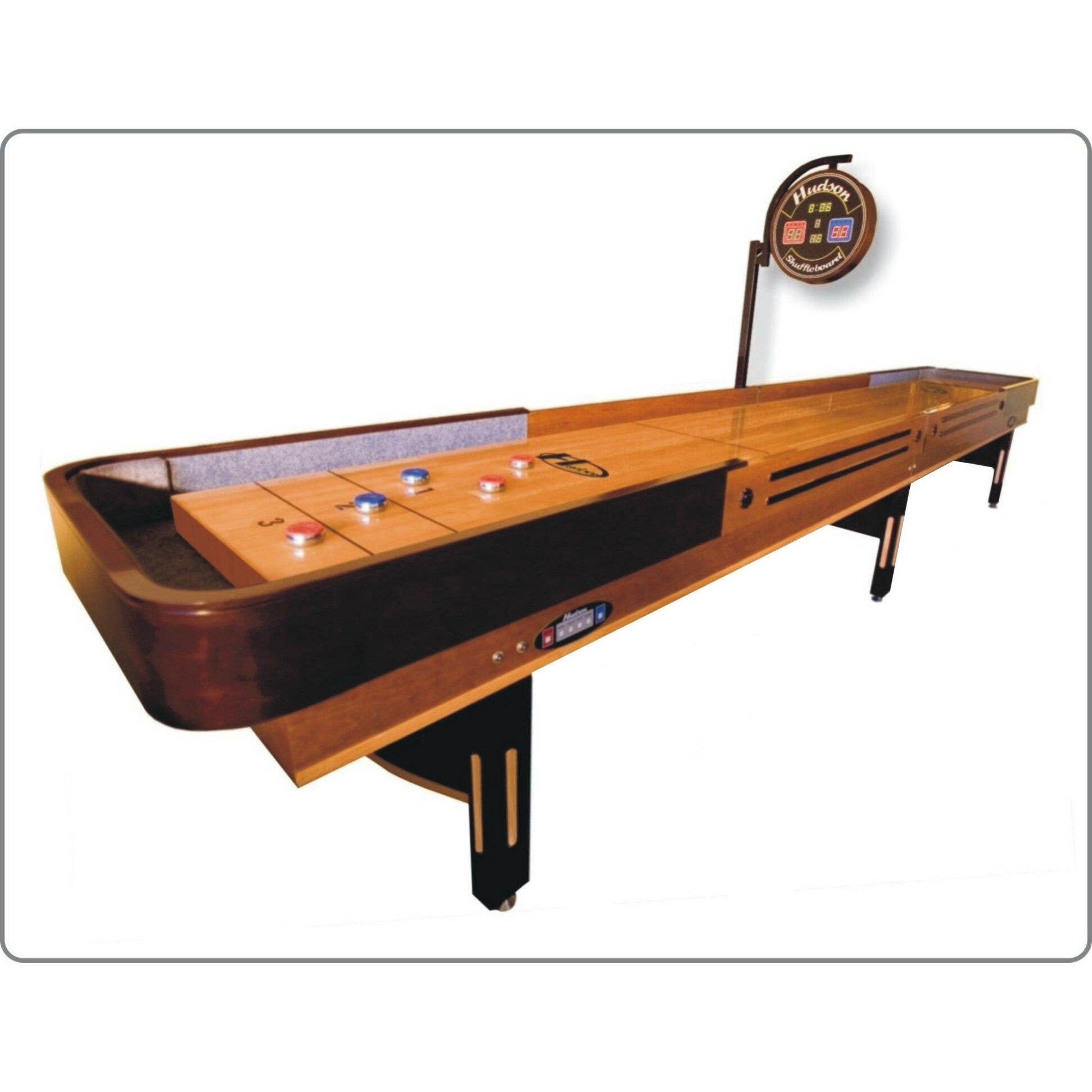 Hudson shuffleboards 12 39 grand shuffleboard reviews for 12 in 1 game table walmart