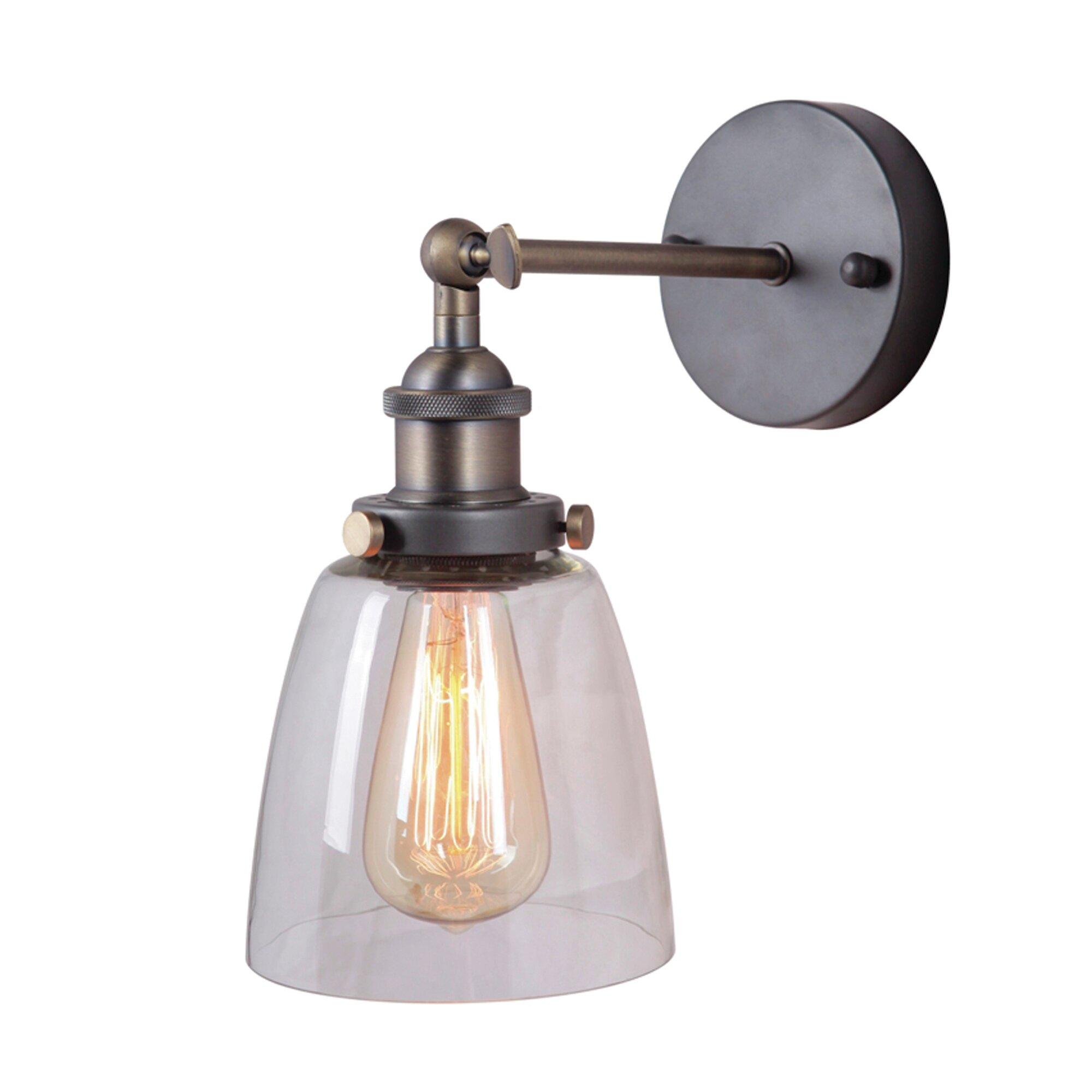 Yosemite home decor 1 light wall sconce reviews wayfair for Wayfair industrial lamp
