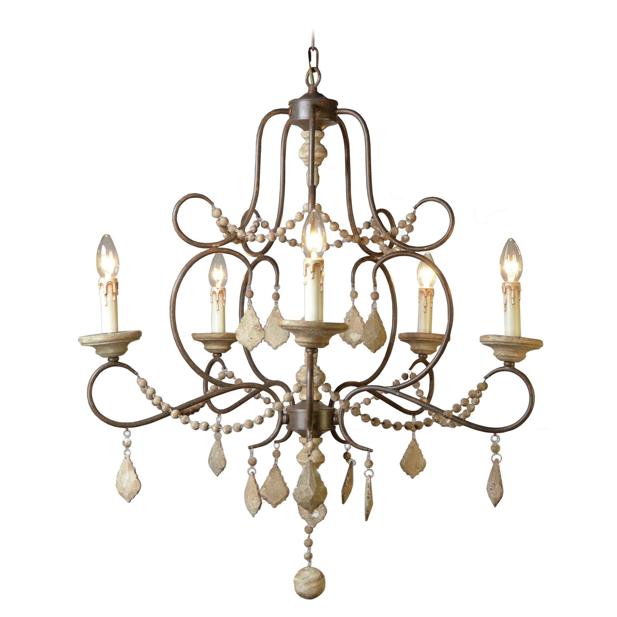Yosemite home decor palm 6 lights crystal chandelier wayfair for Home decor survivor 6