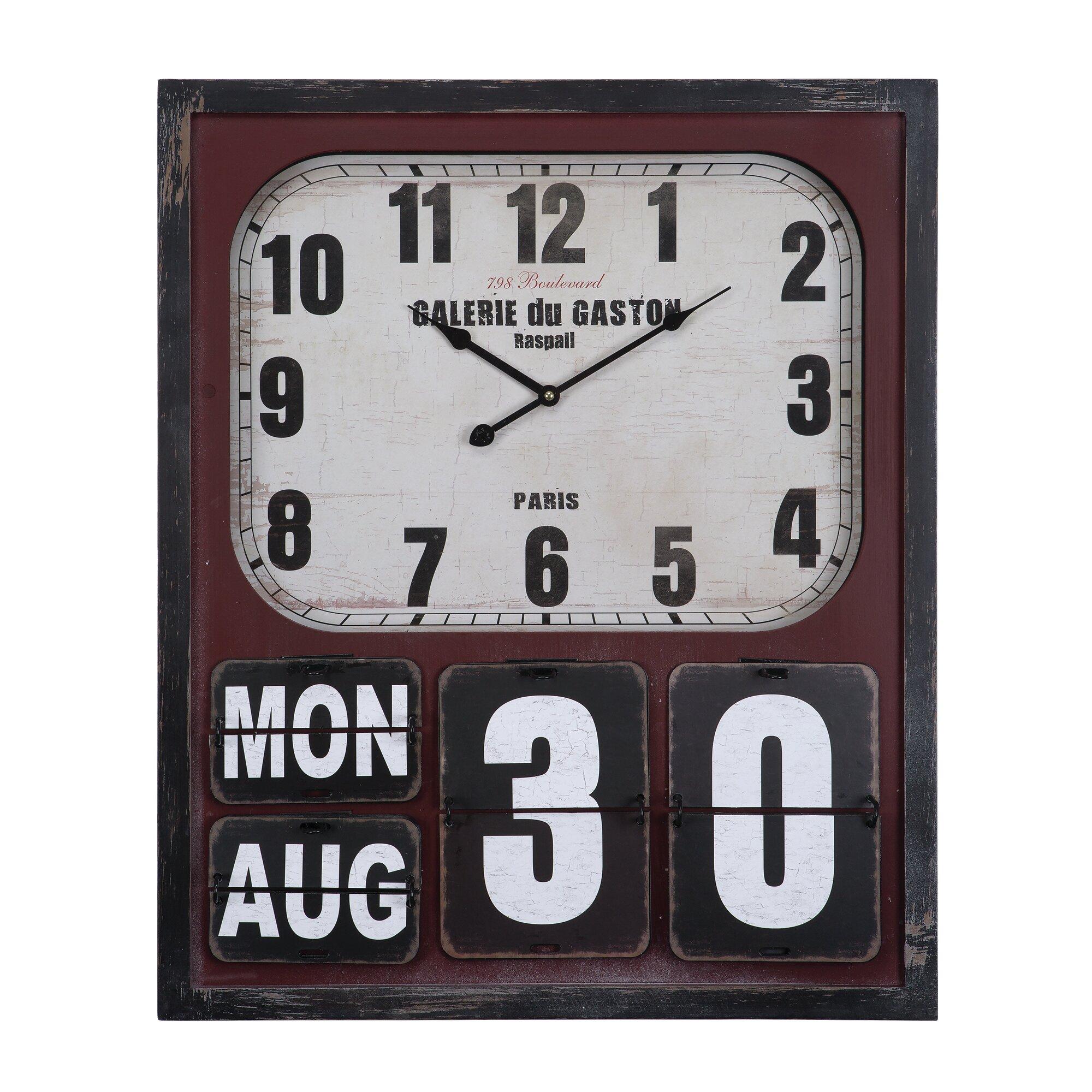"Yosemite Home Decor 27.5"" Wall Clock & Reviews | Wayfair.ca"