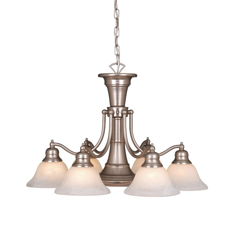 Vaxcel Standford 6 Light Chandelier & Reviews